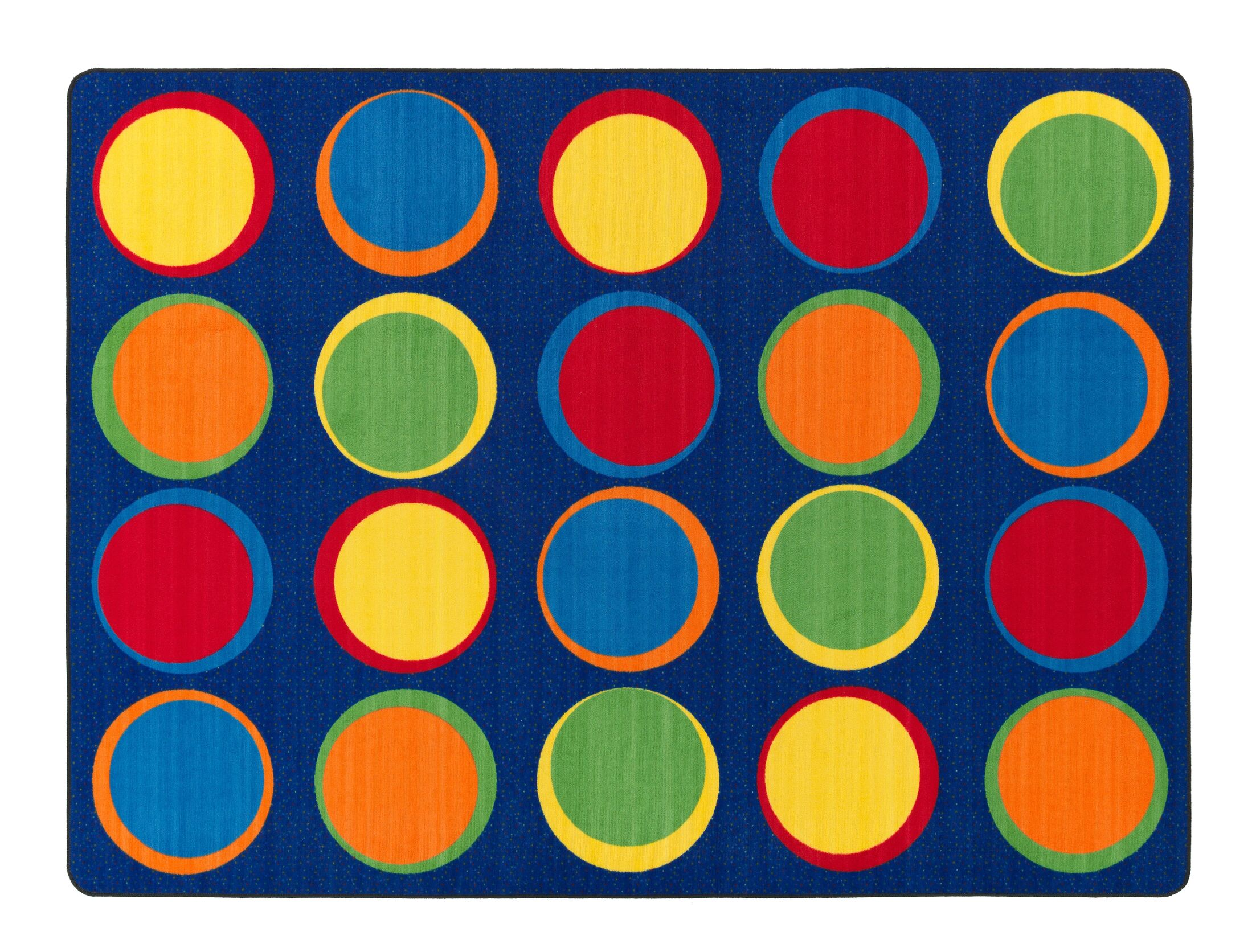 Sitting Spots Blue/Yellow Area Rug Rug Size: 6' x 8'4