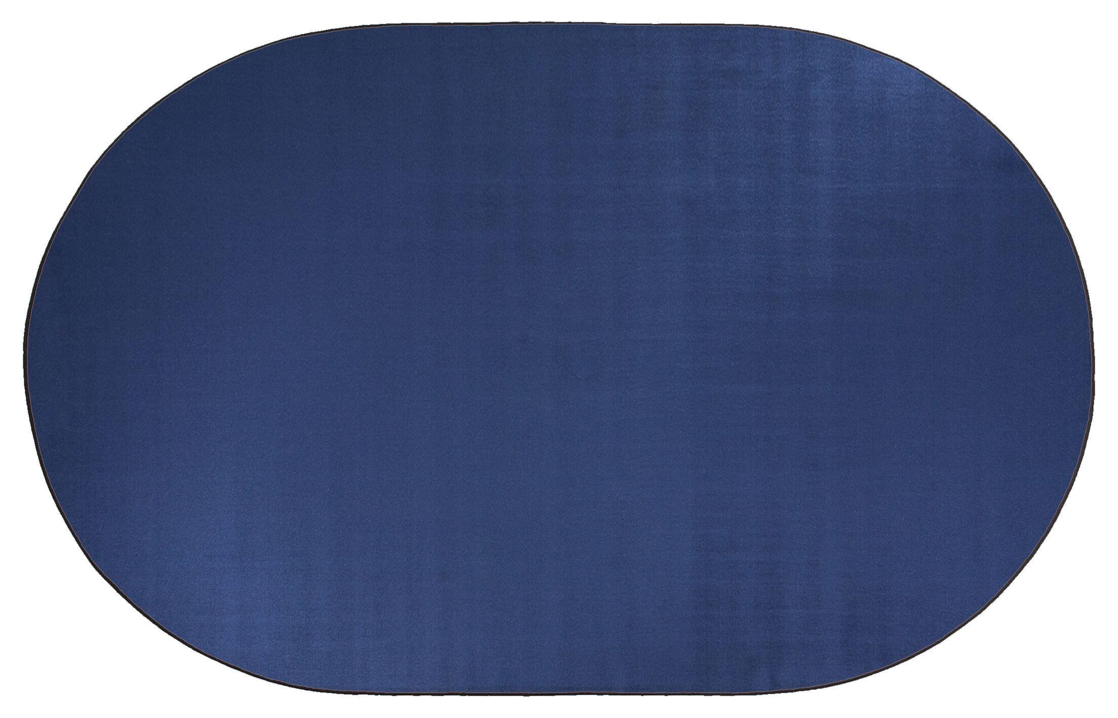 Americolors Royal Blue Area Rug Rug Size: Oval 6' x 9'
