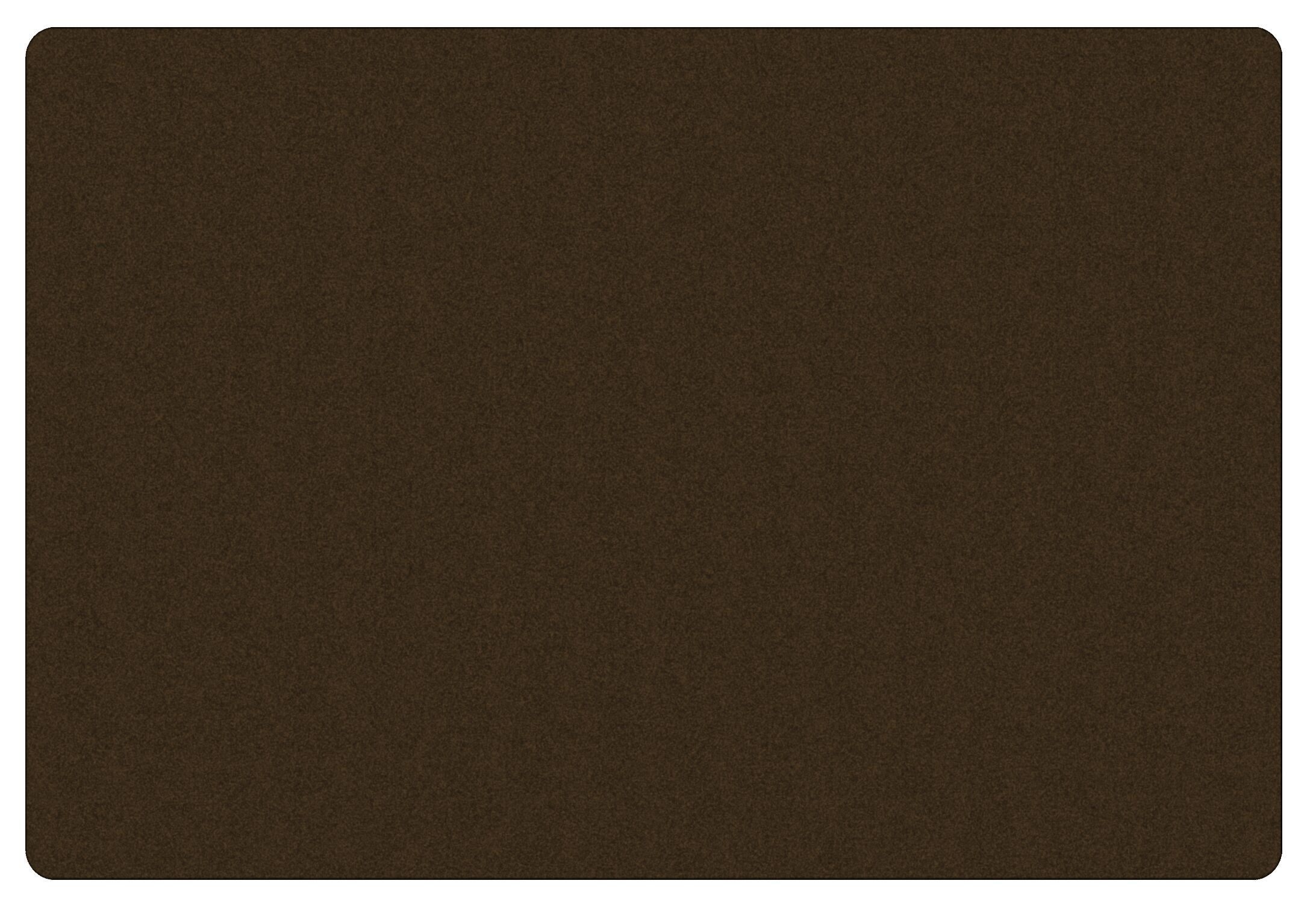 Americolors Chocolate Area Rug Rug Size: Rectangle 4' x 6'
