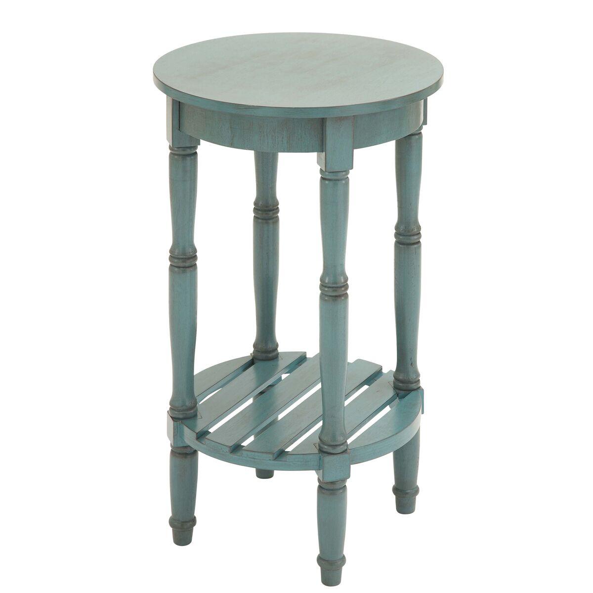 Urban Designs Seaside End Table Color: Blue