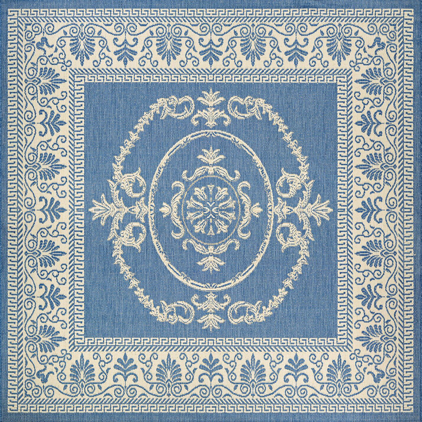 Miley Blue Indoor/Outdoor Area Rug Rug Size: Square 7'6
