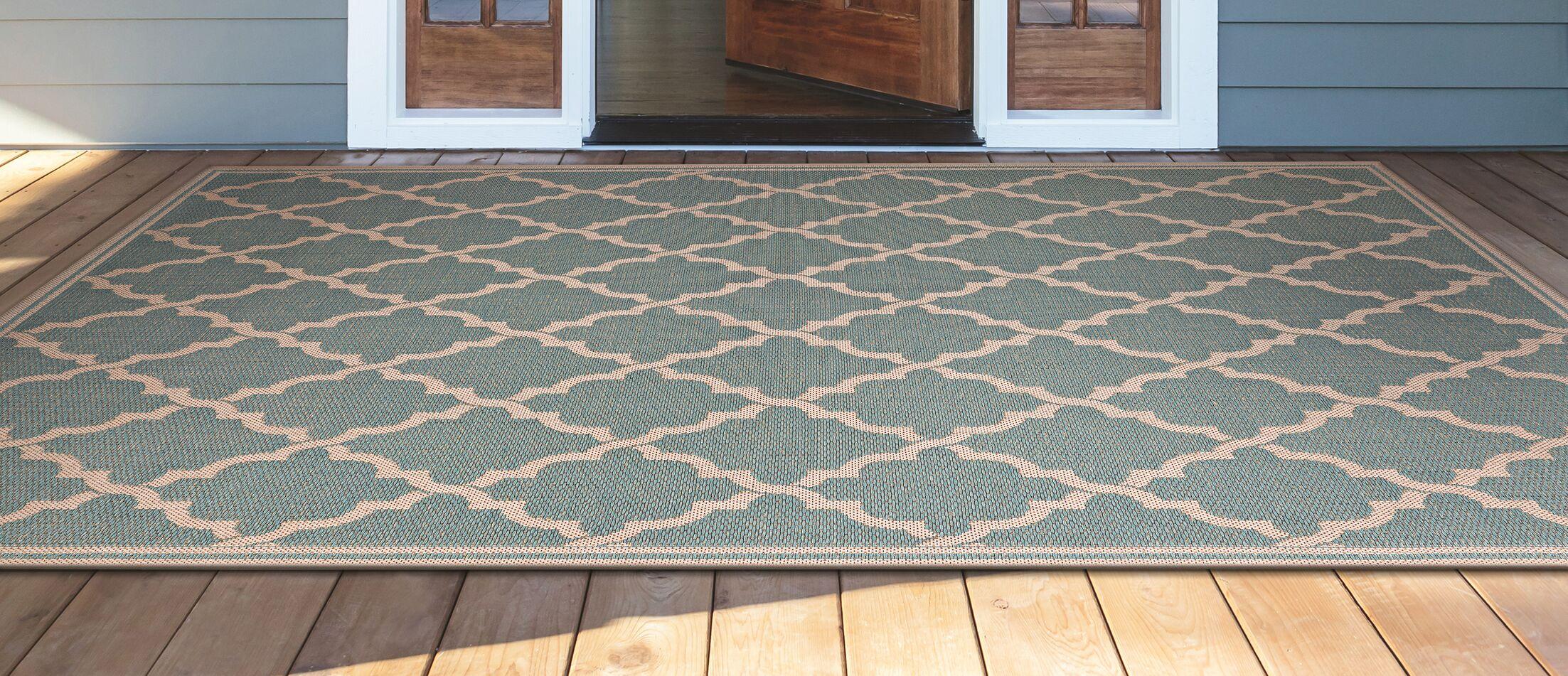 Crigler Ocean Port Light Turquoise Indoor/Outdoor Area Rug Rug Size: Rectangle 7'6