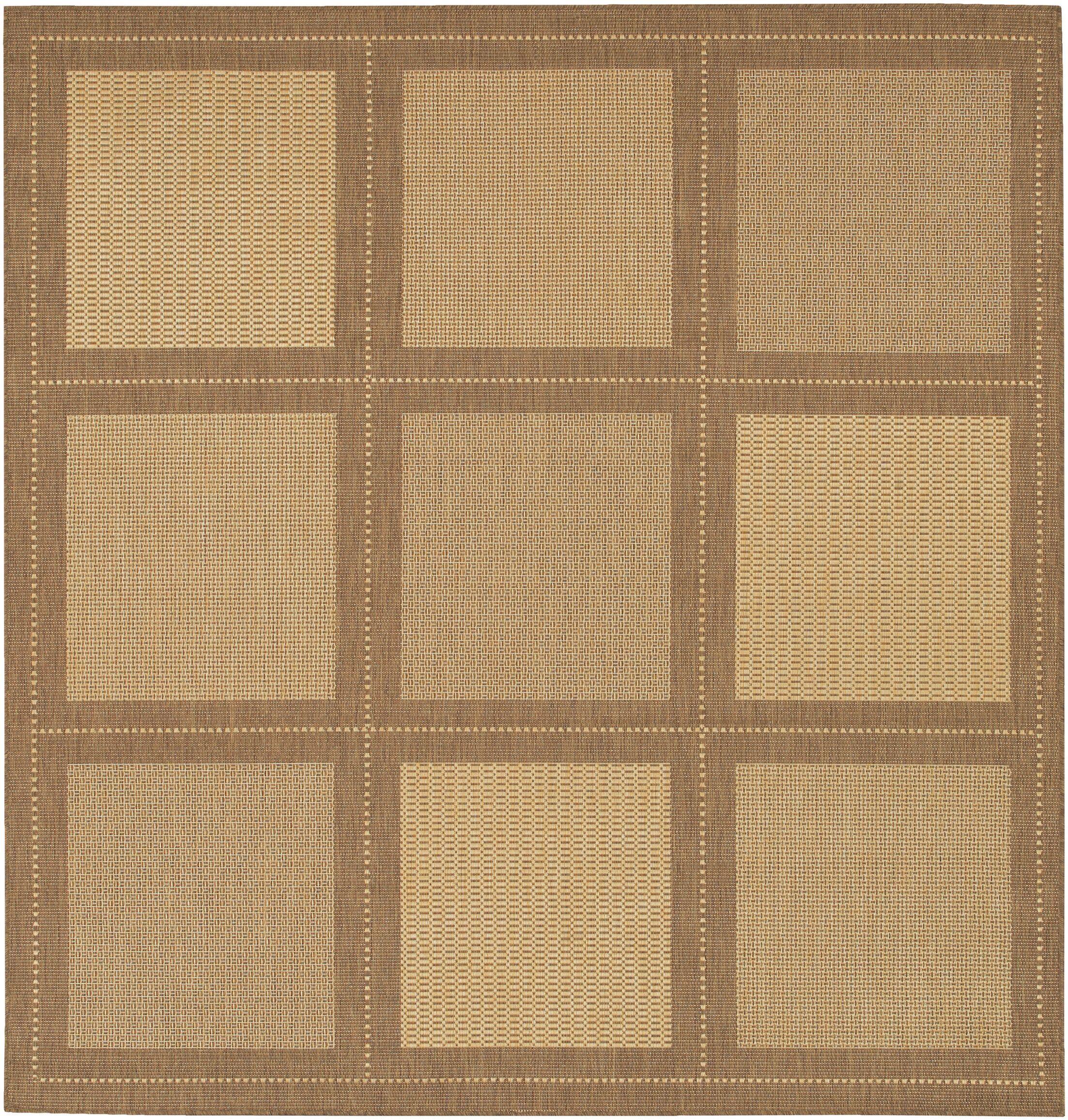 Westlund Natural/Beige Area Rug Rug Size: Square 8'6