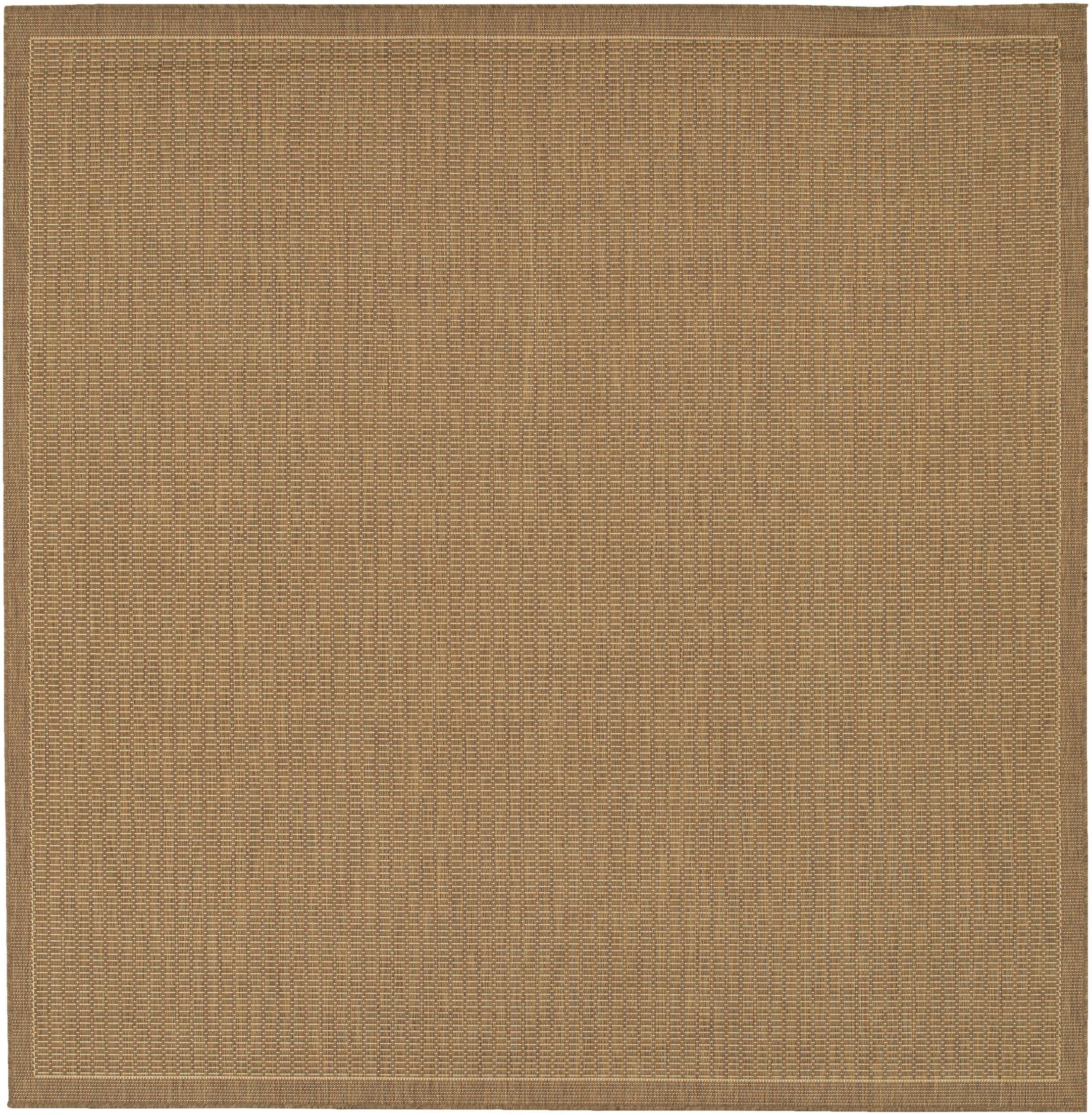 Westlund Saddle Stitch Cocoa Indoor/Outdoor Area Rug Rug Size: Square 8'6