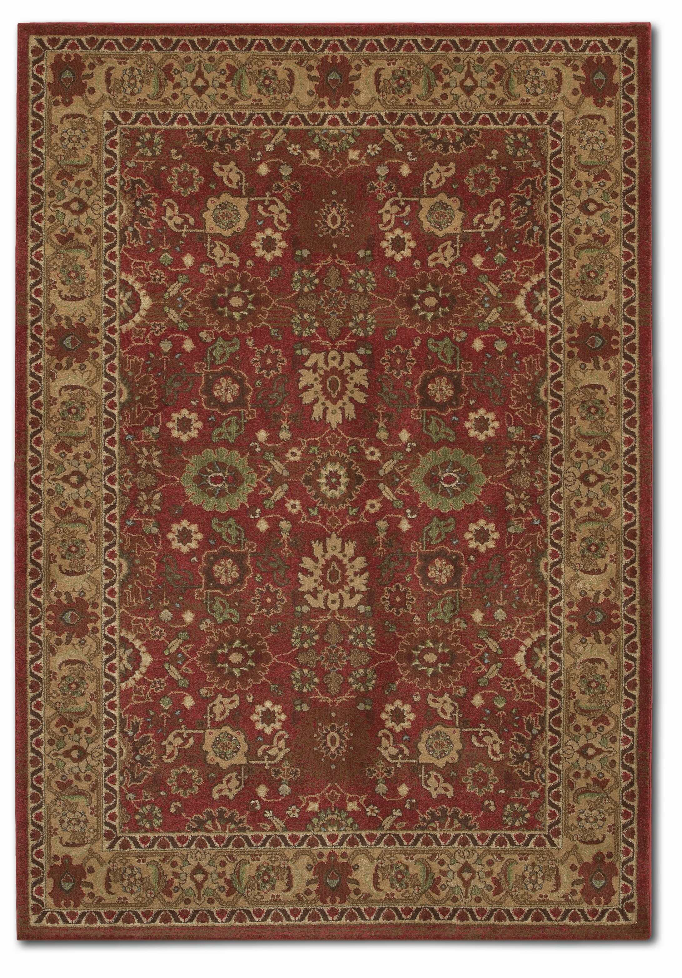 Pera All over Mashhad Crimson/Fawn Area Rug Rug Size: Rectangle 9'9