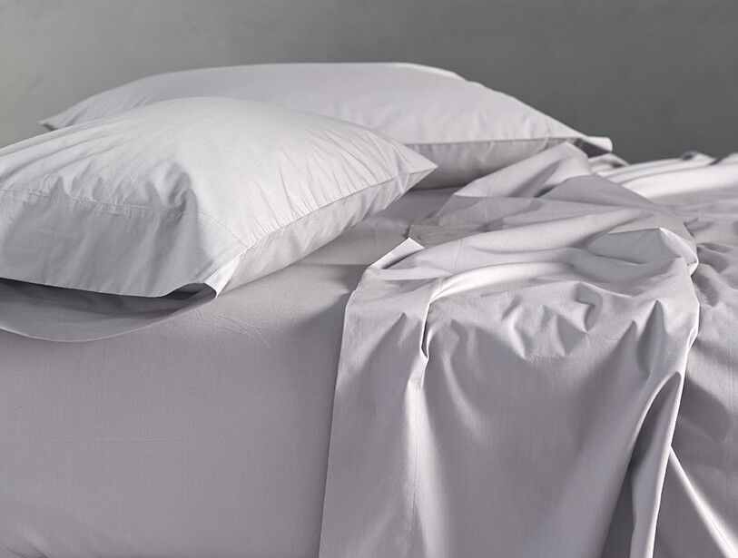 Percale 220 Thread Count 100% Cotton Sheet Set Color: Alpine White, Size: King
