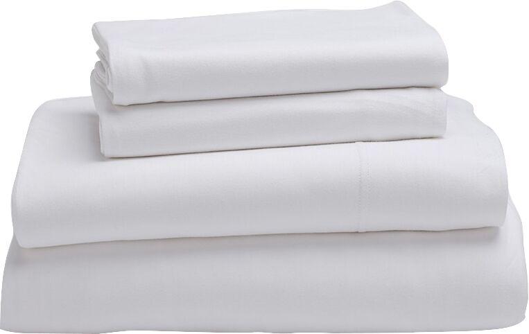 Jersey 100% Cotton Sheet Set Color: Alpine White, Size: Queen