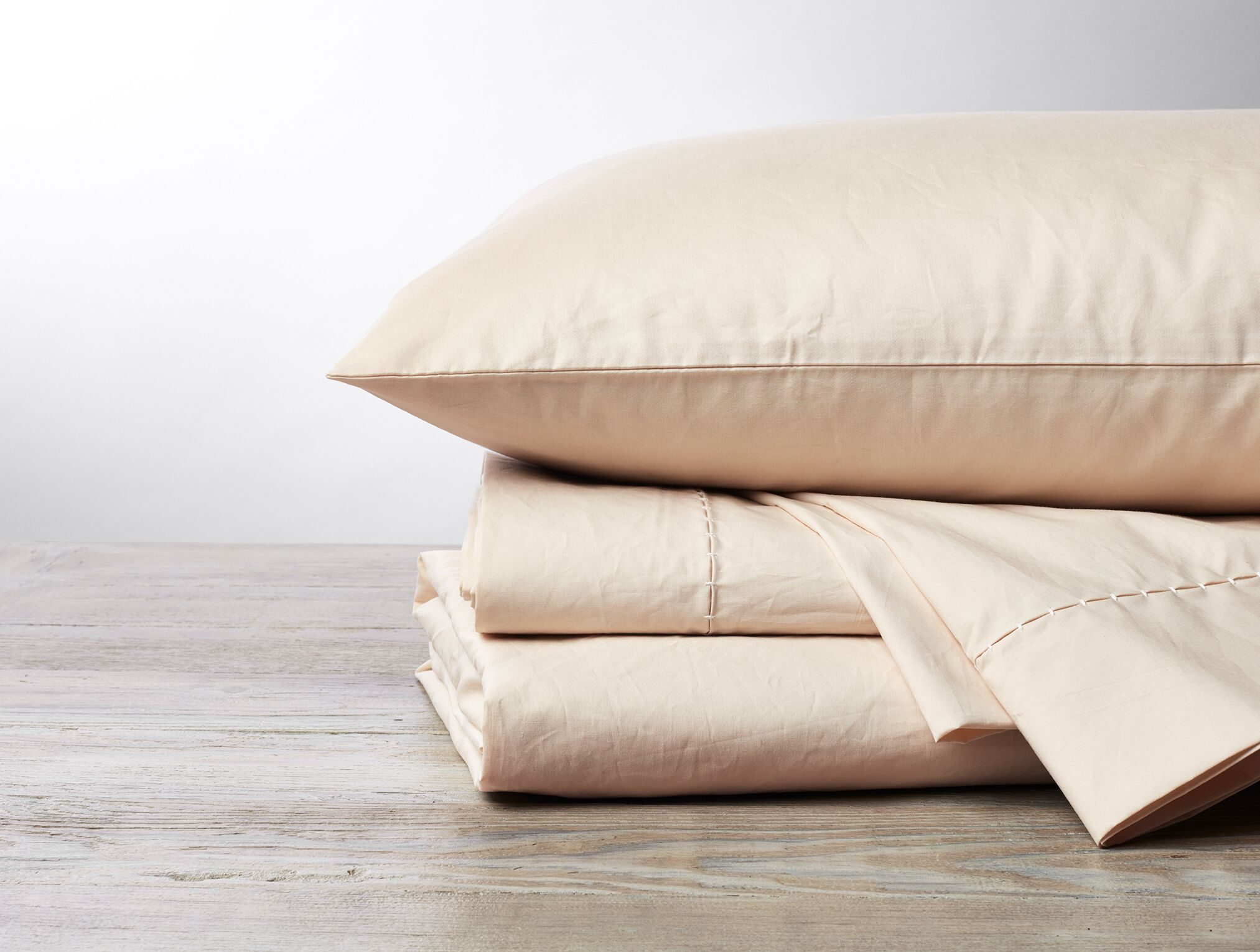 Organic 500TC Percale Sheet Set Color: Undyed, Size: King