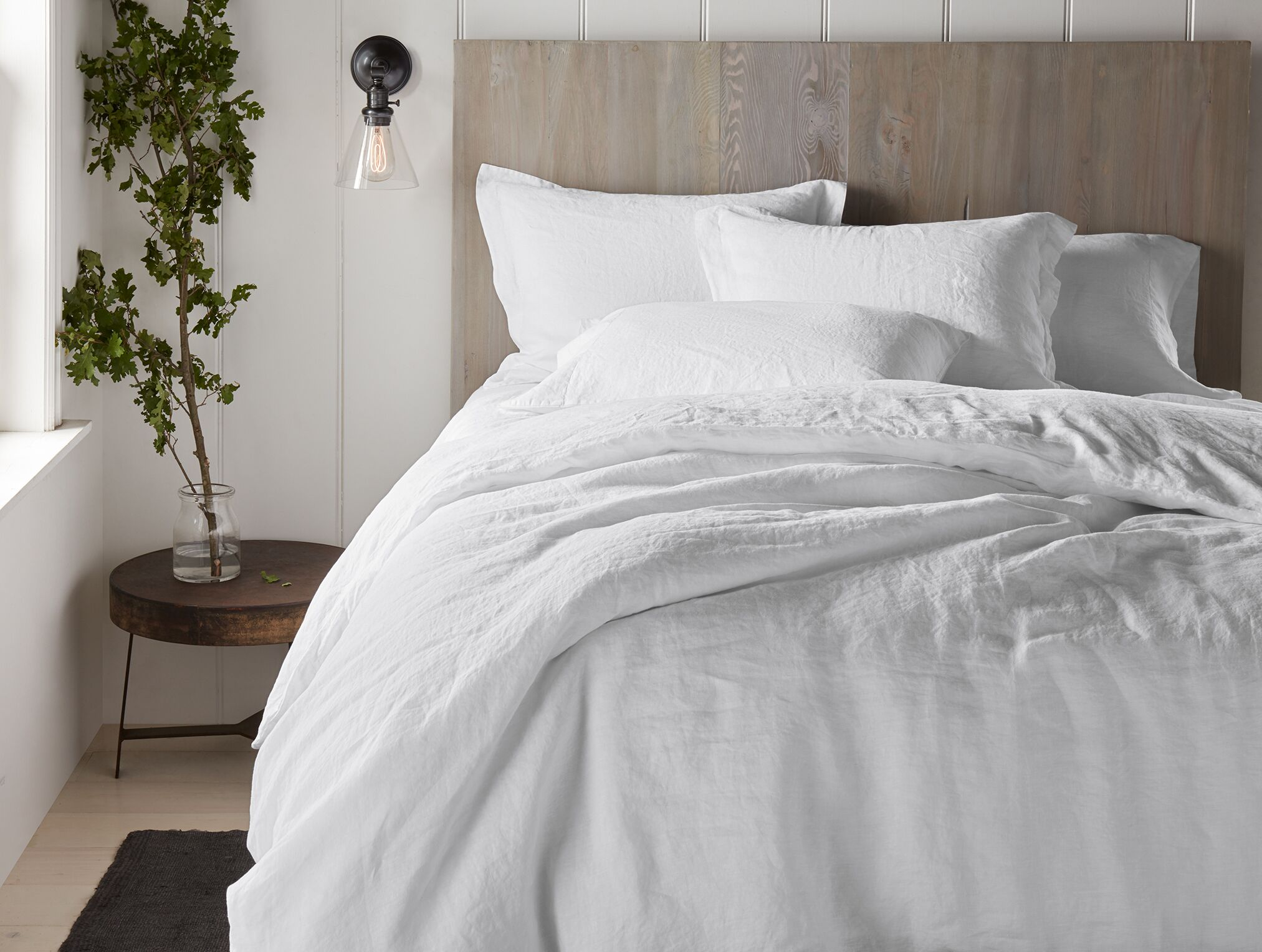 Organic Relaxed Linen Sham Color: Alpine White, Size: Standard