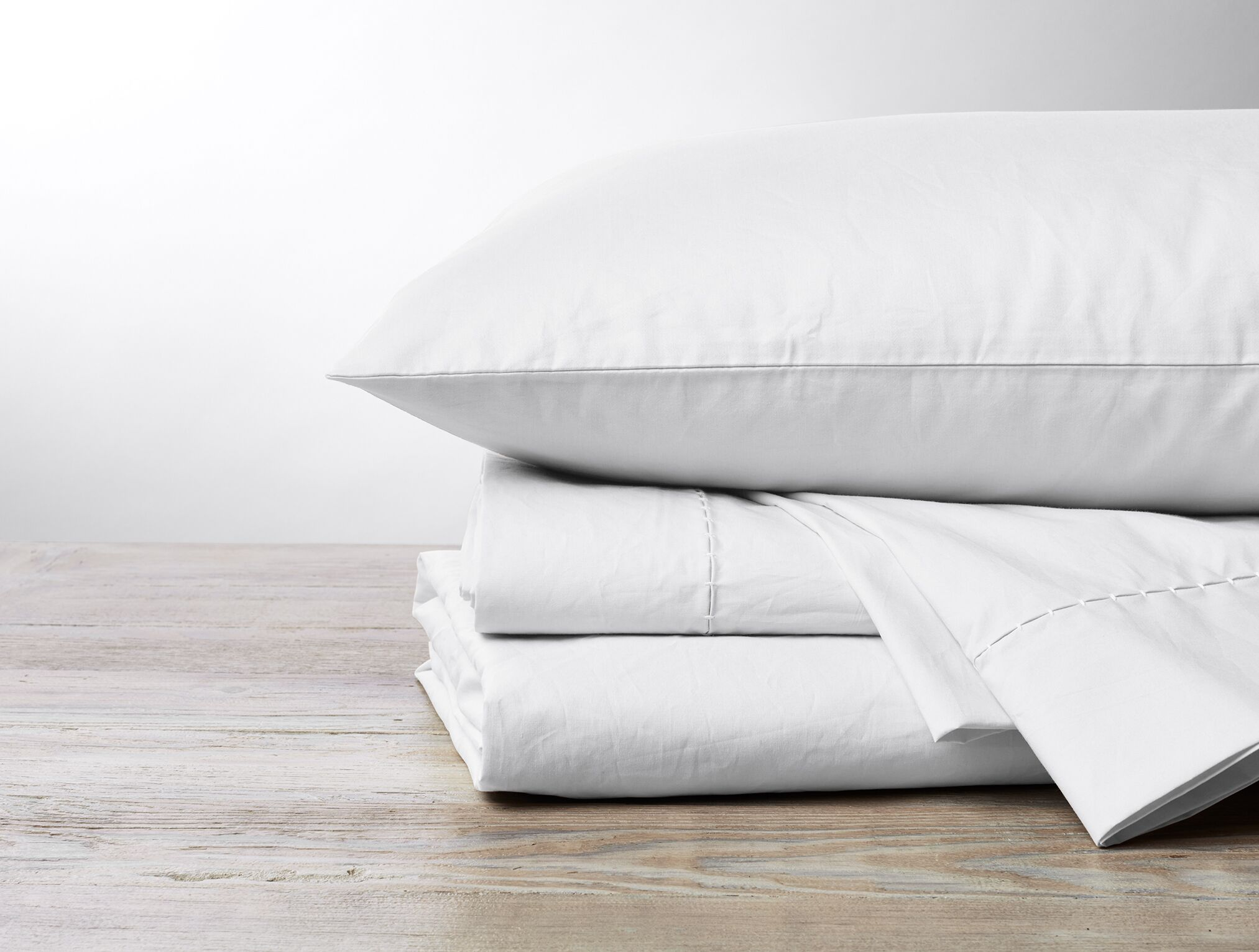 Organic 500TC Percale Pillowcase Size: King, Color: Undyed