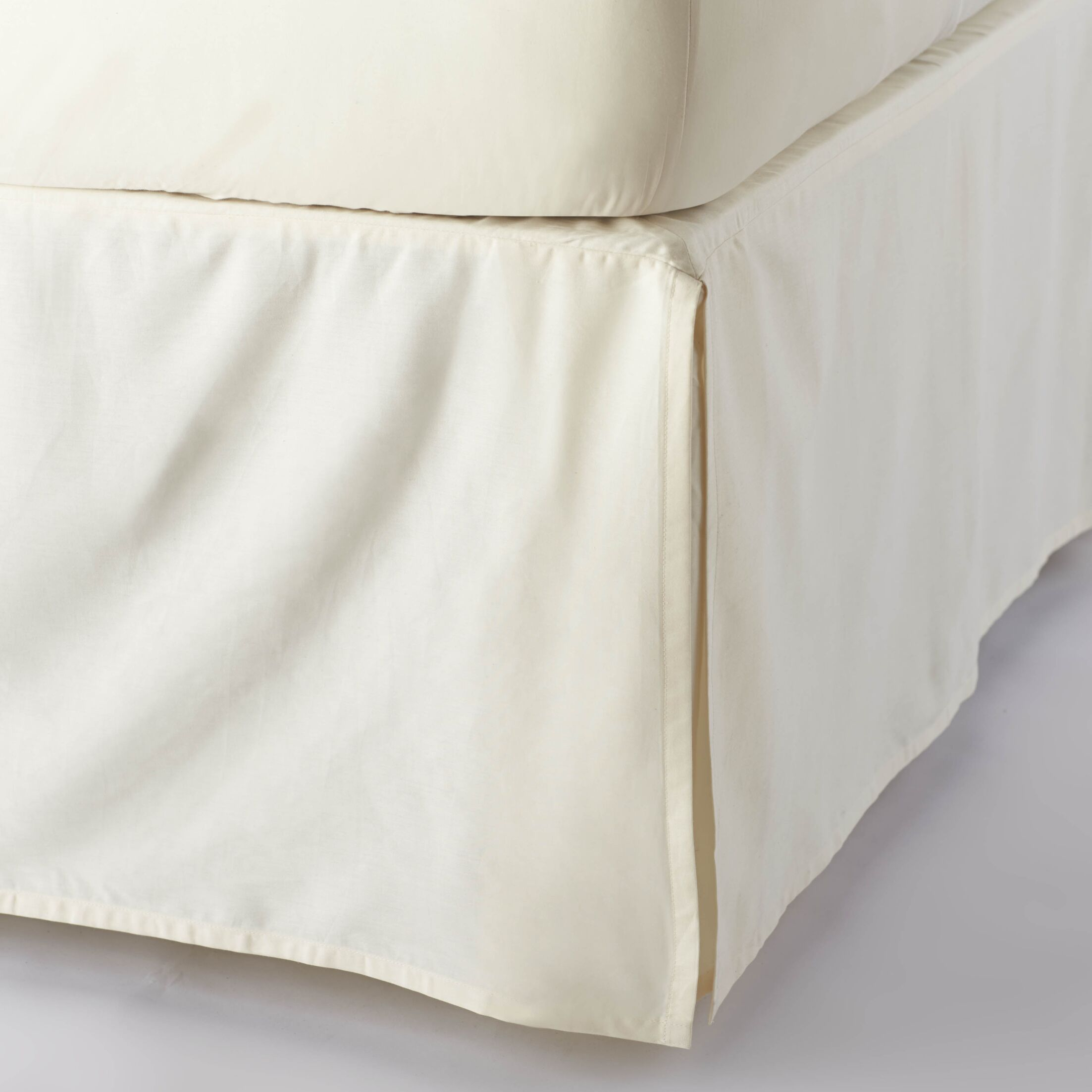 Sateen 300 Thread Count Cotton Bed Skirt Color: Natural, Size: Twin