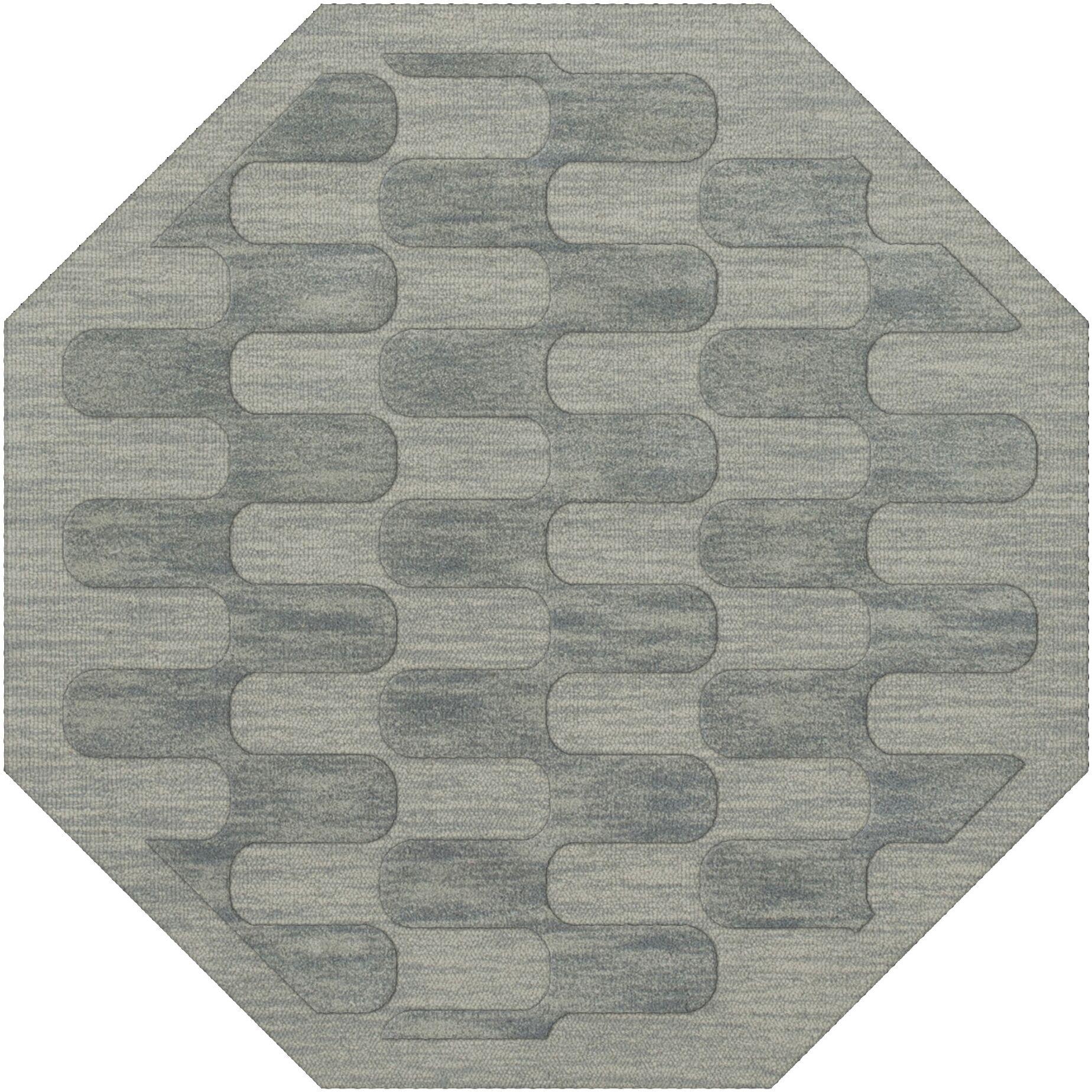 Dover Sea Glass Area Rug Rug Size: Octagon 8'