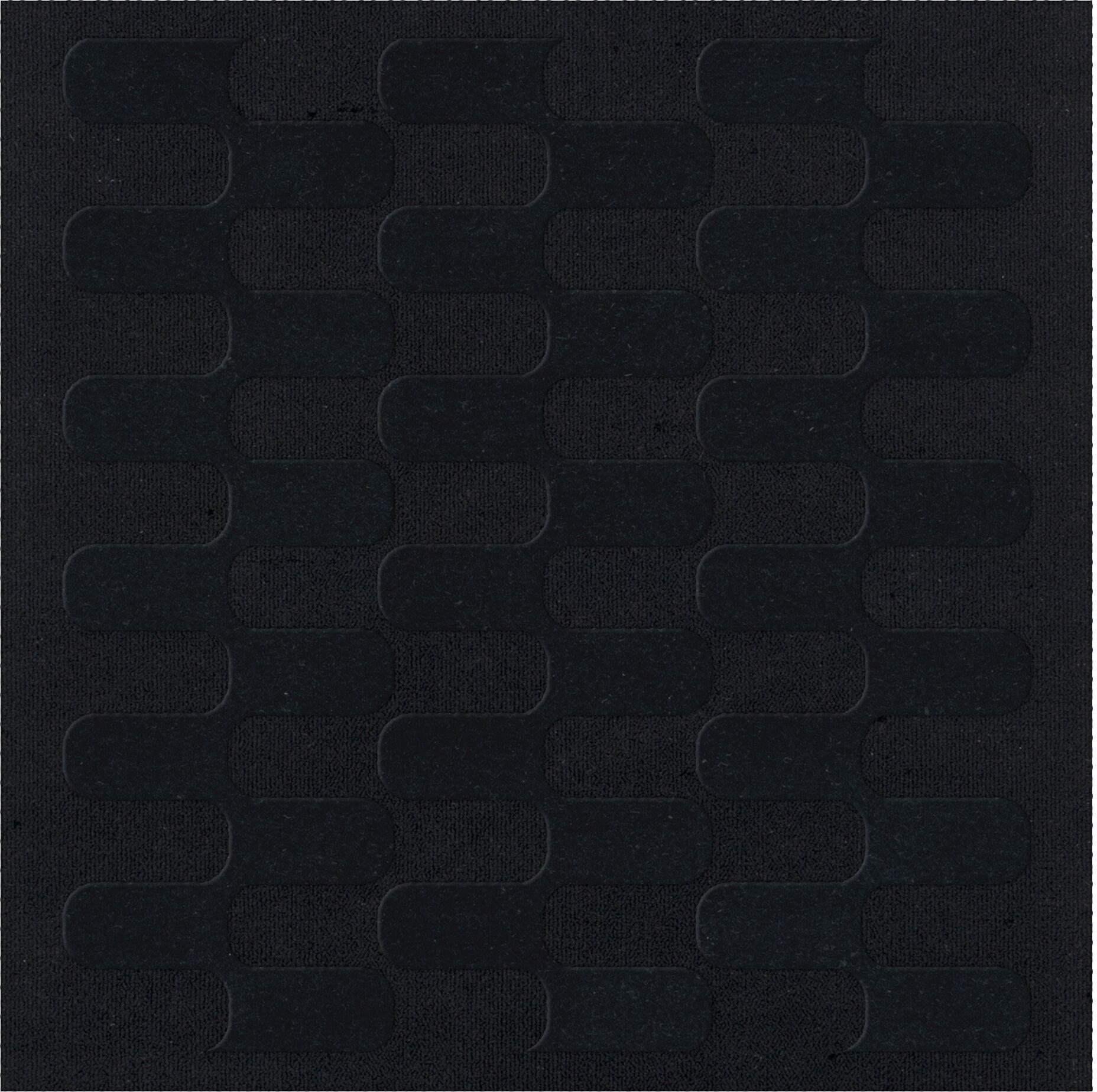 Dover Black Area Rug Rug Size: Square 4'