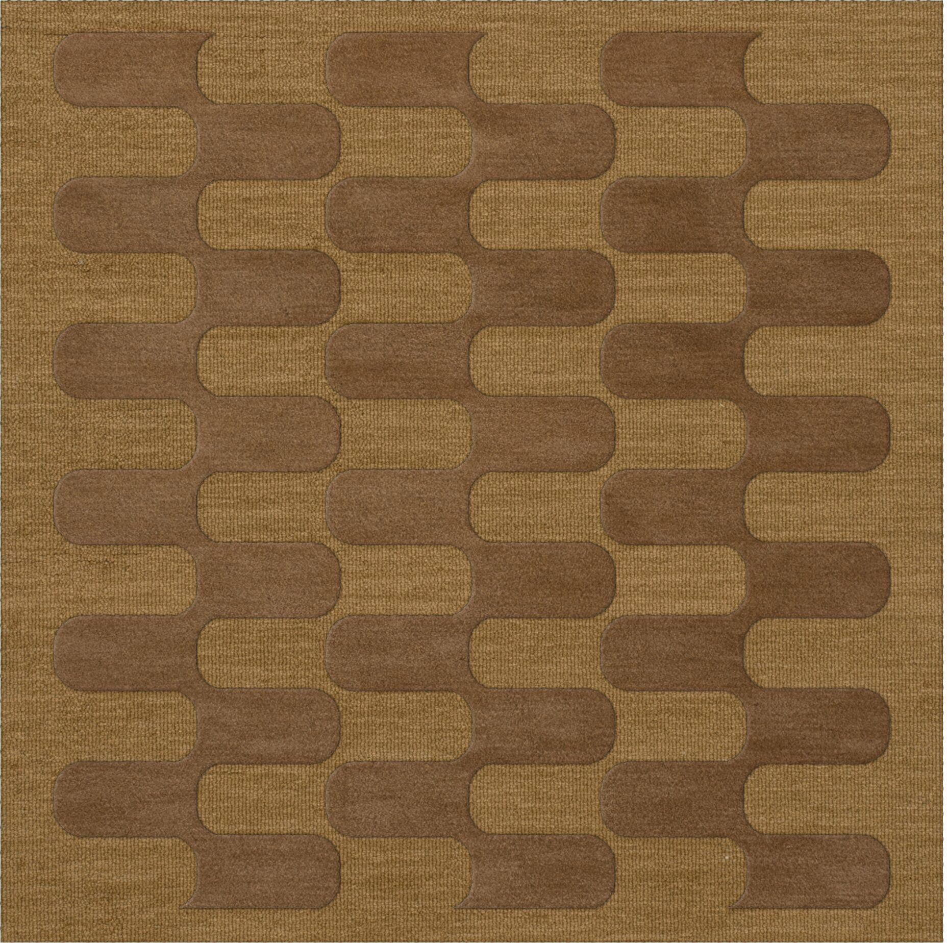 Dover Gold Dust Area Rug Rug Size: Square 4'