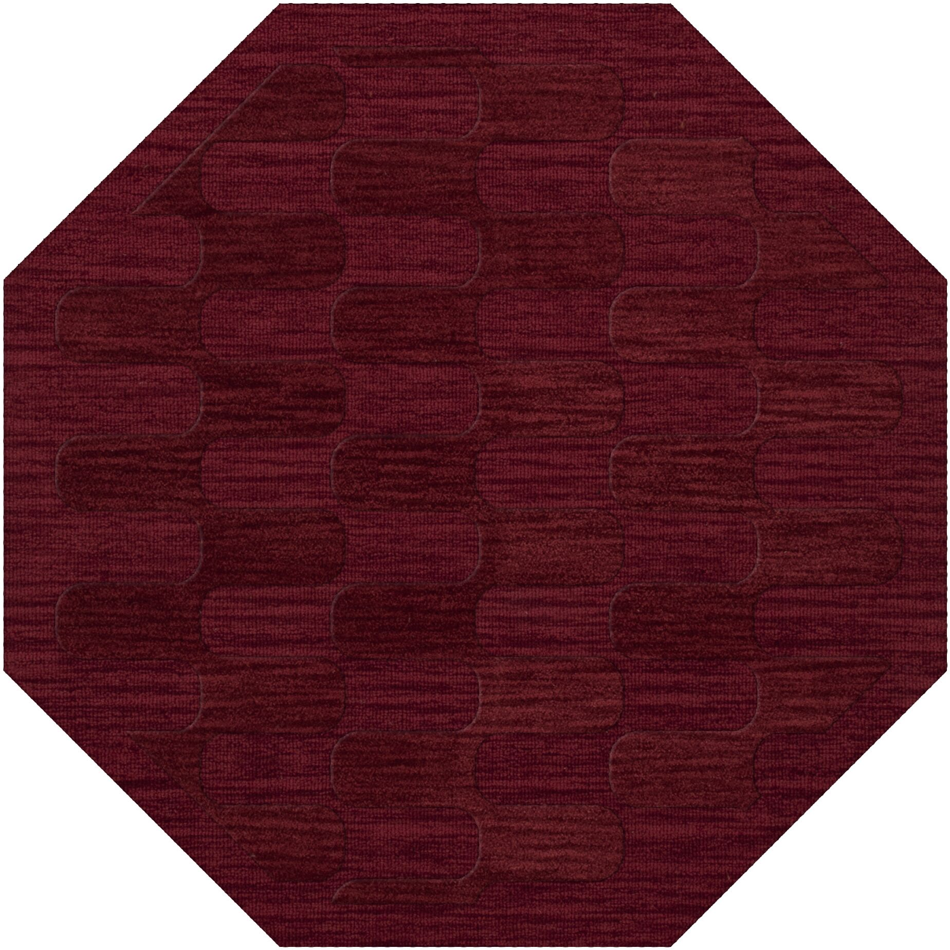 Dover Rich Red Area Rug Rug Size: Octagon 12'