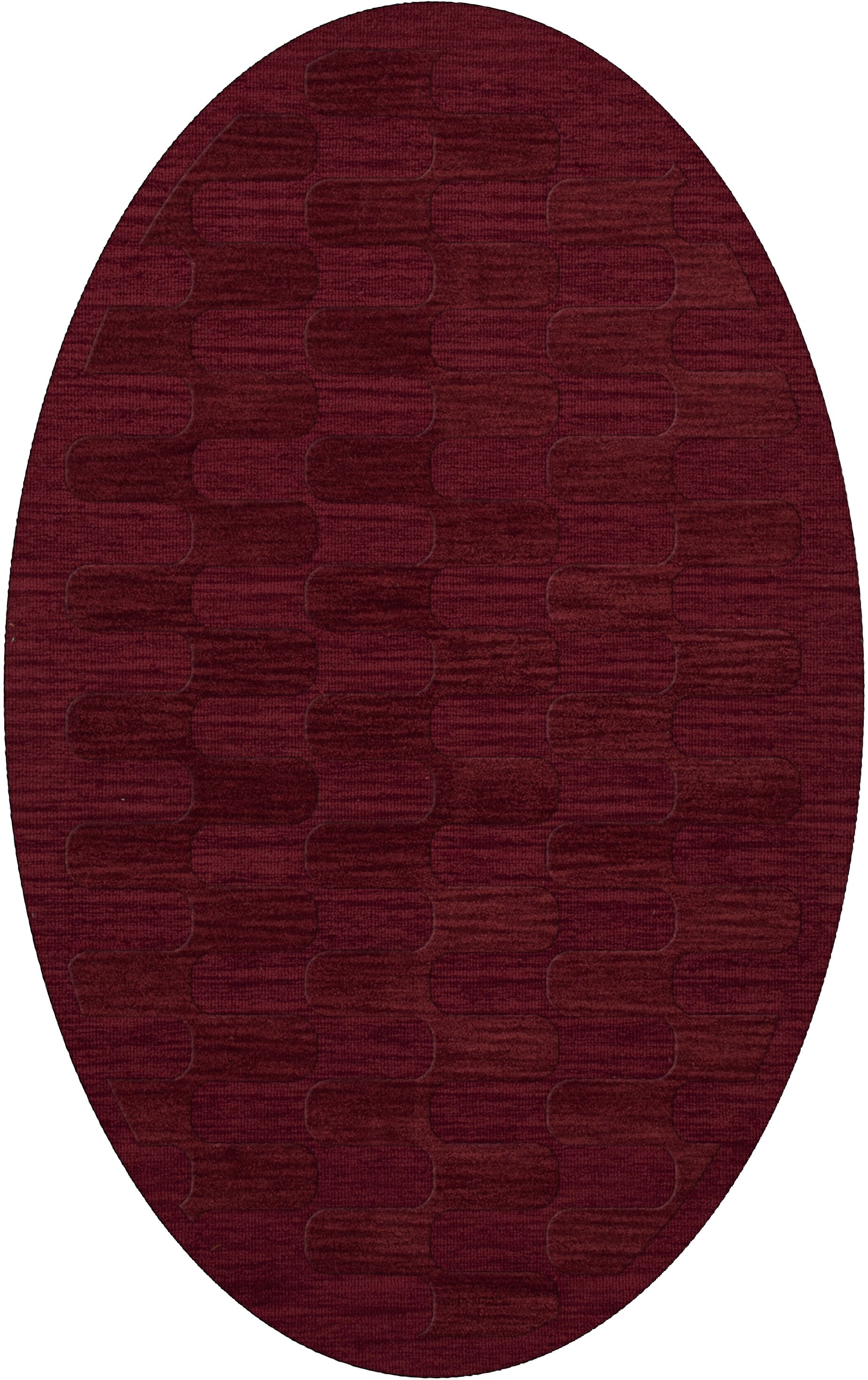 Dover Rich Red Area Rug Rug Size: Oval 6' x 9'