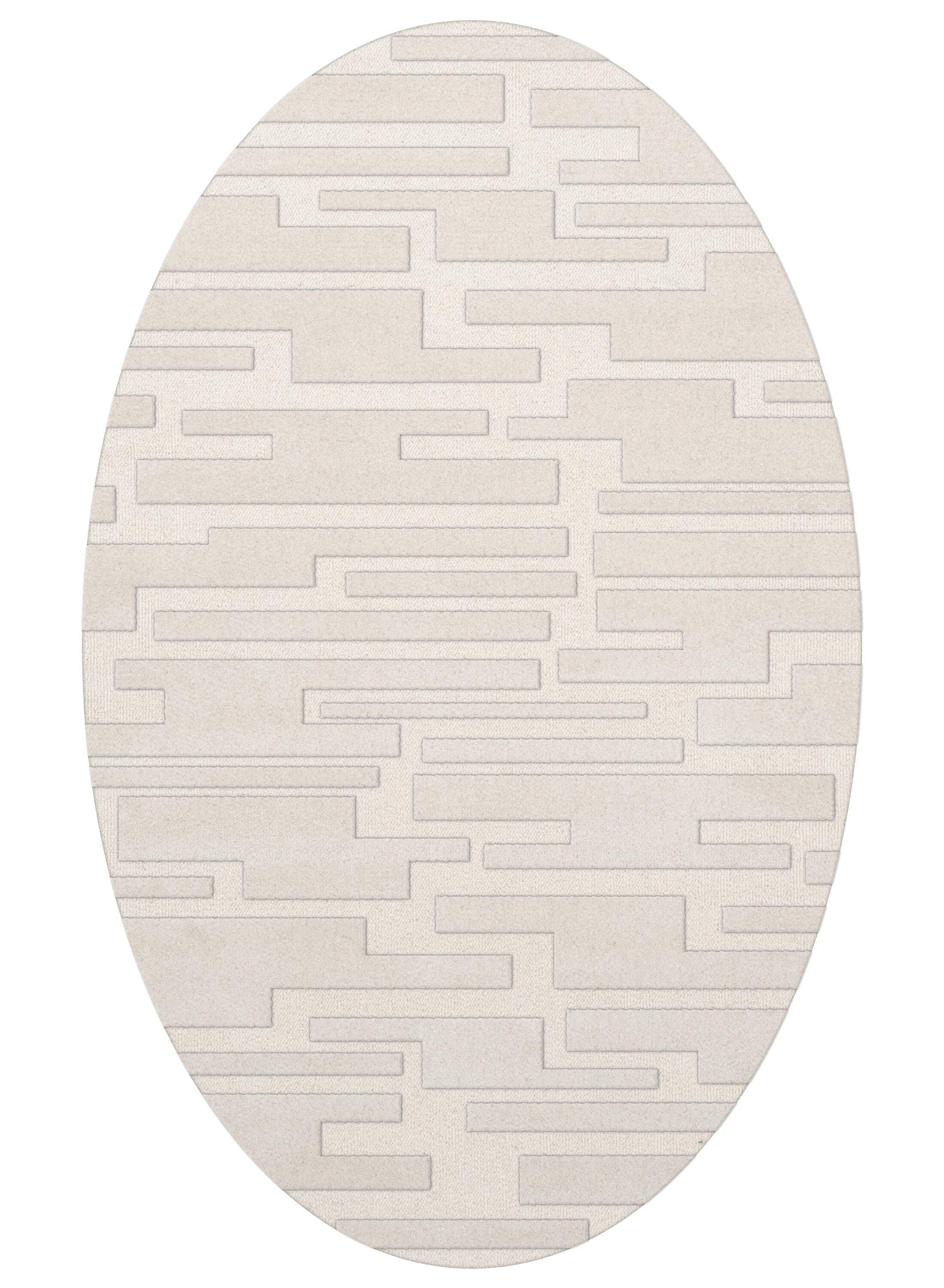 Dover Snow Area Rug Rug Size: Oval 8' x 10'