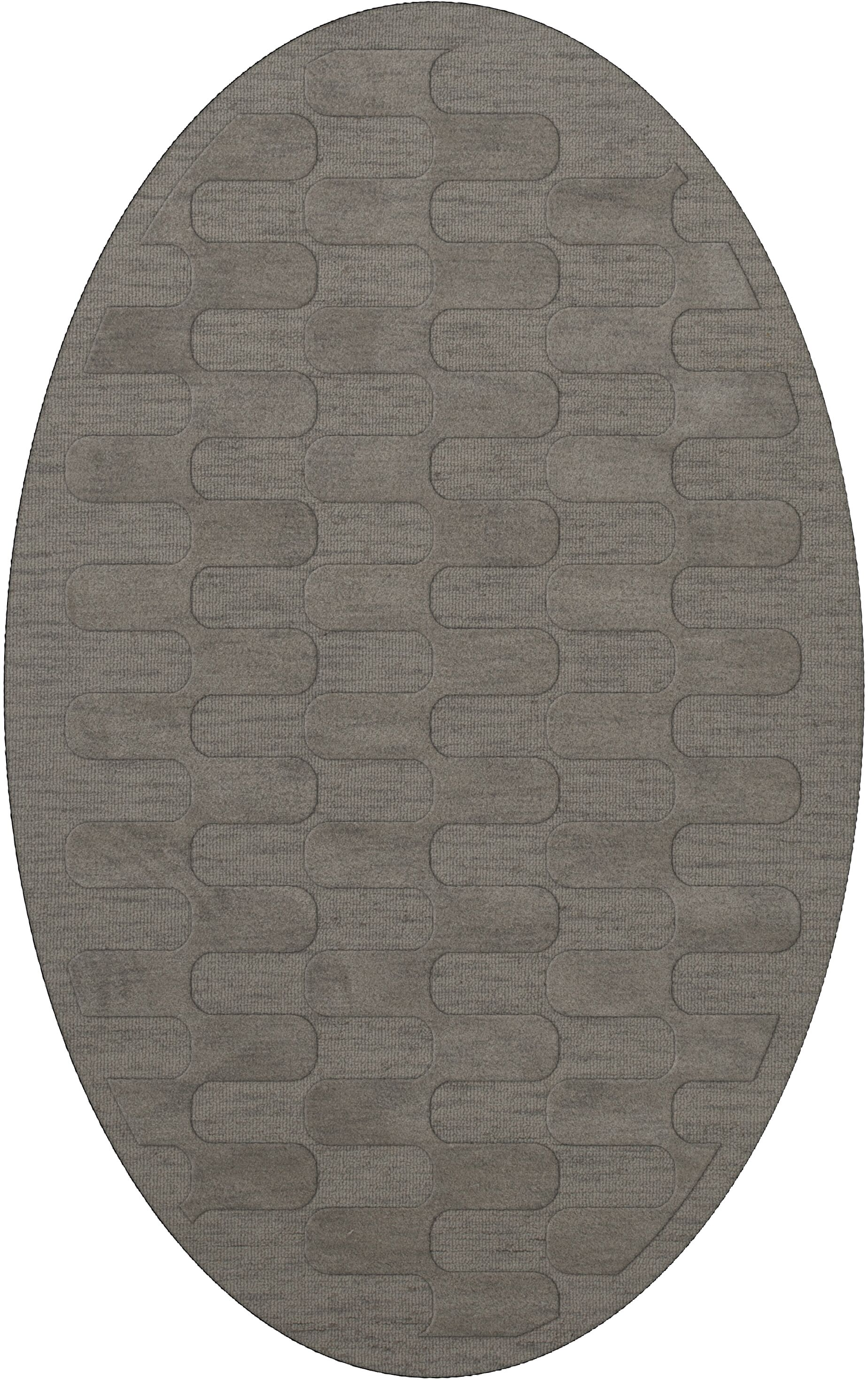 Dover Silver Area Rug Rug Size: Oval 6' x 9'