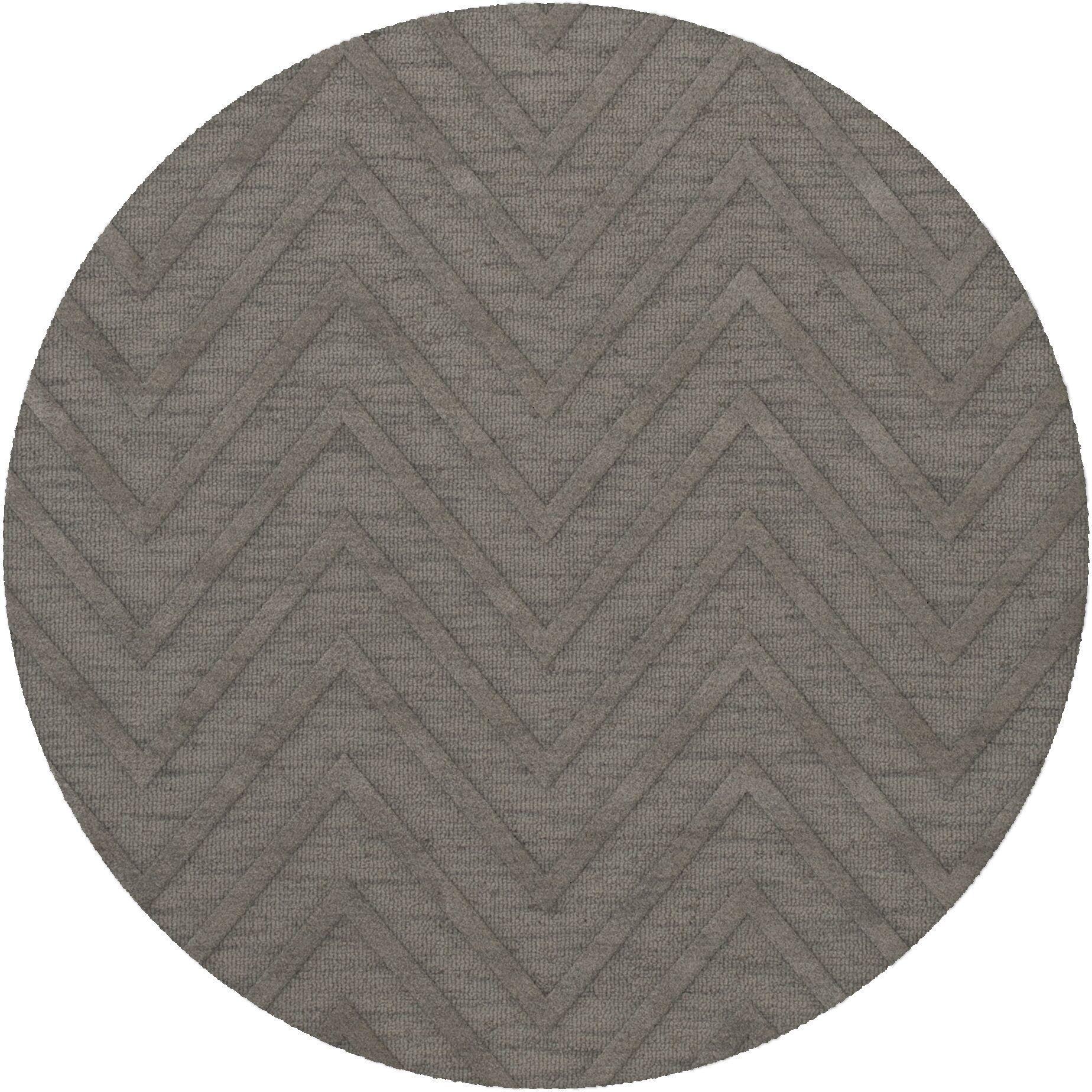 Dover Tufted Wool Silver Area Rug Rug Size: Round 10'