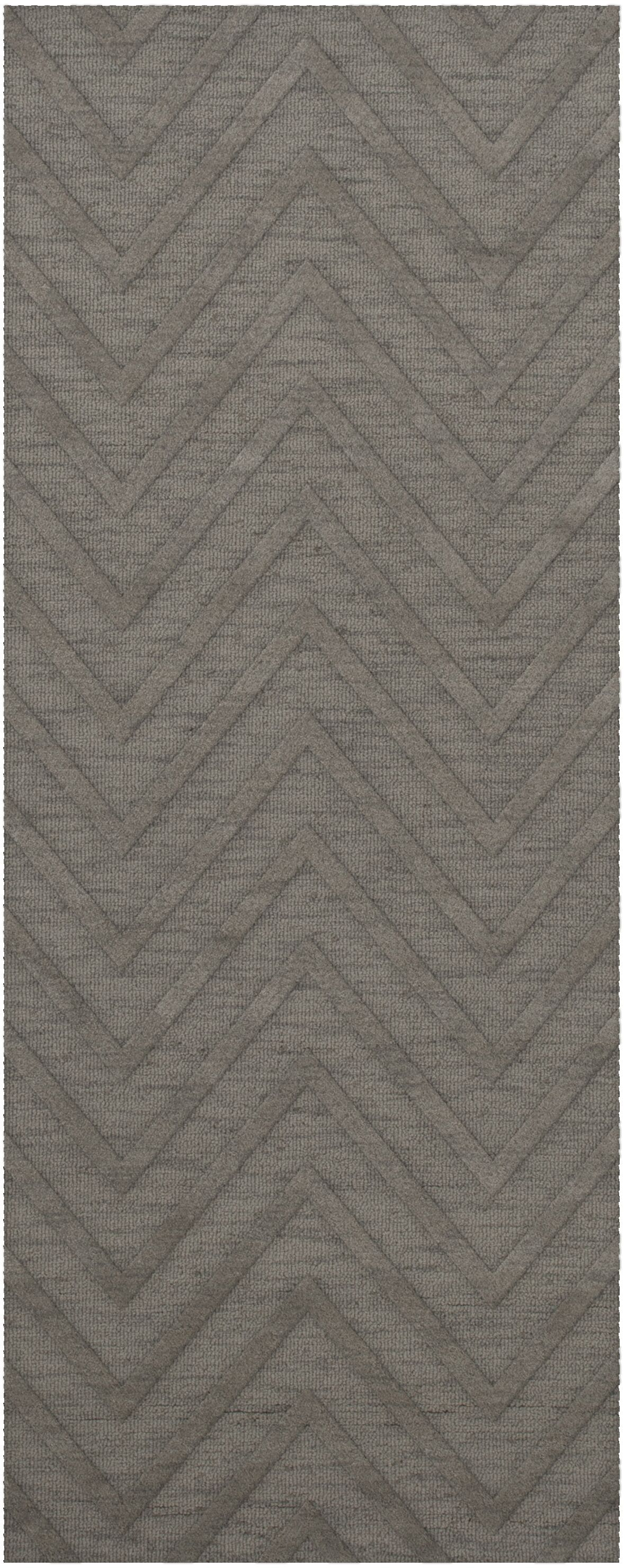 Dover Tufted Wool Silver Area Rug Rug Size: Runner 2'6