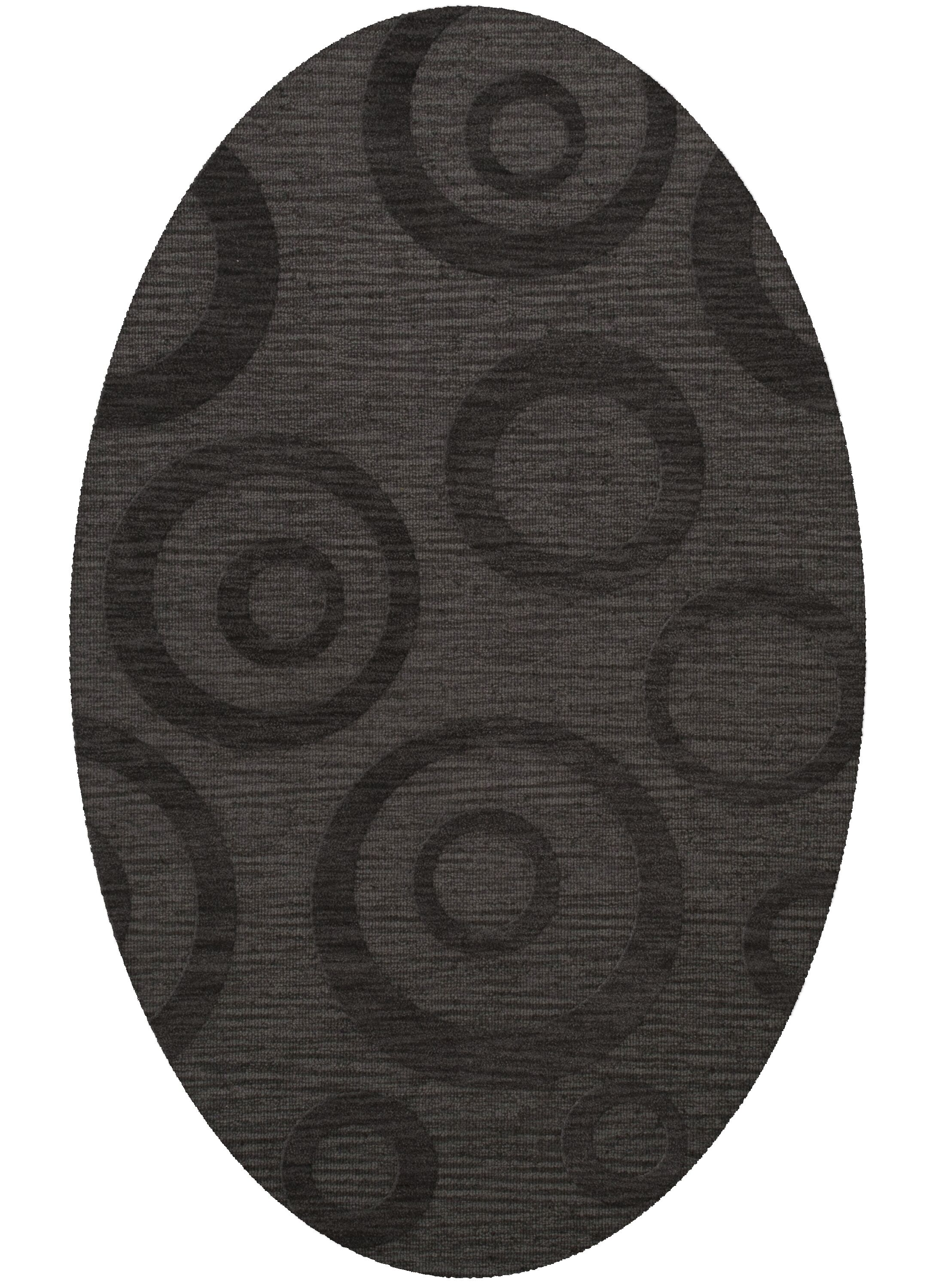 Dover Tufted Wool Ash Area Rug Rug Size: Oval 9' x 12'
