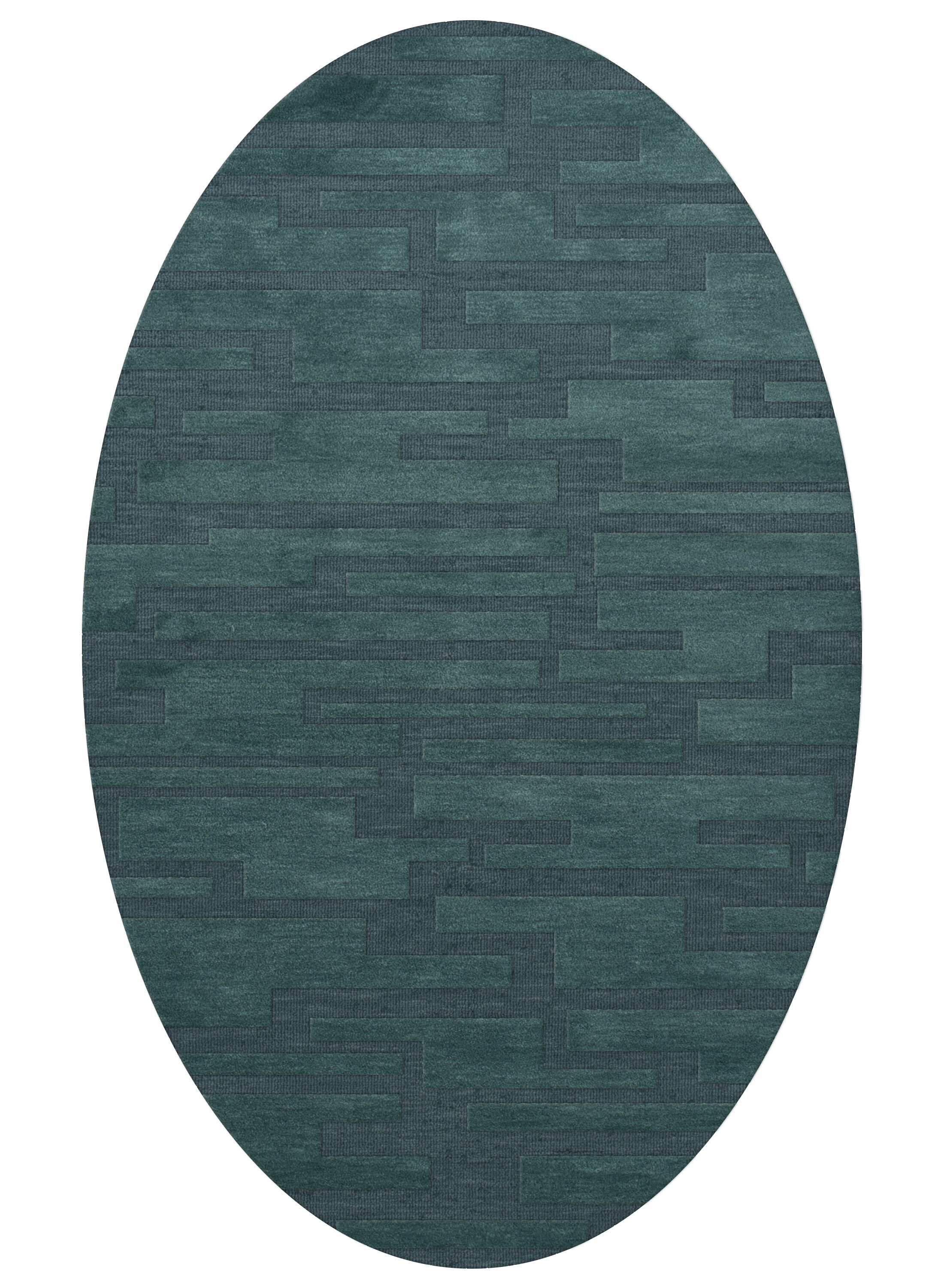 Dover Teal Area Rug Rug Size: Oval 10' x 14'