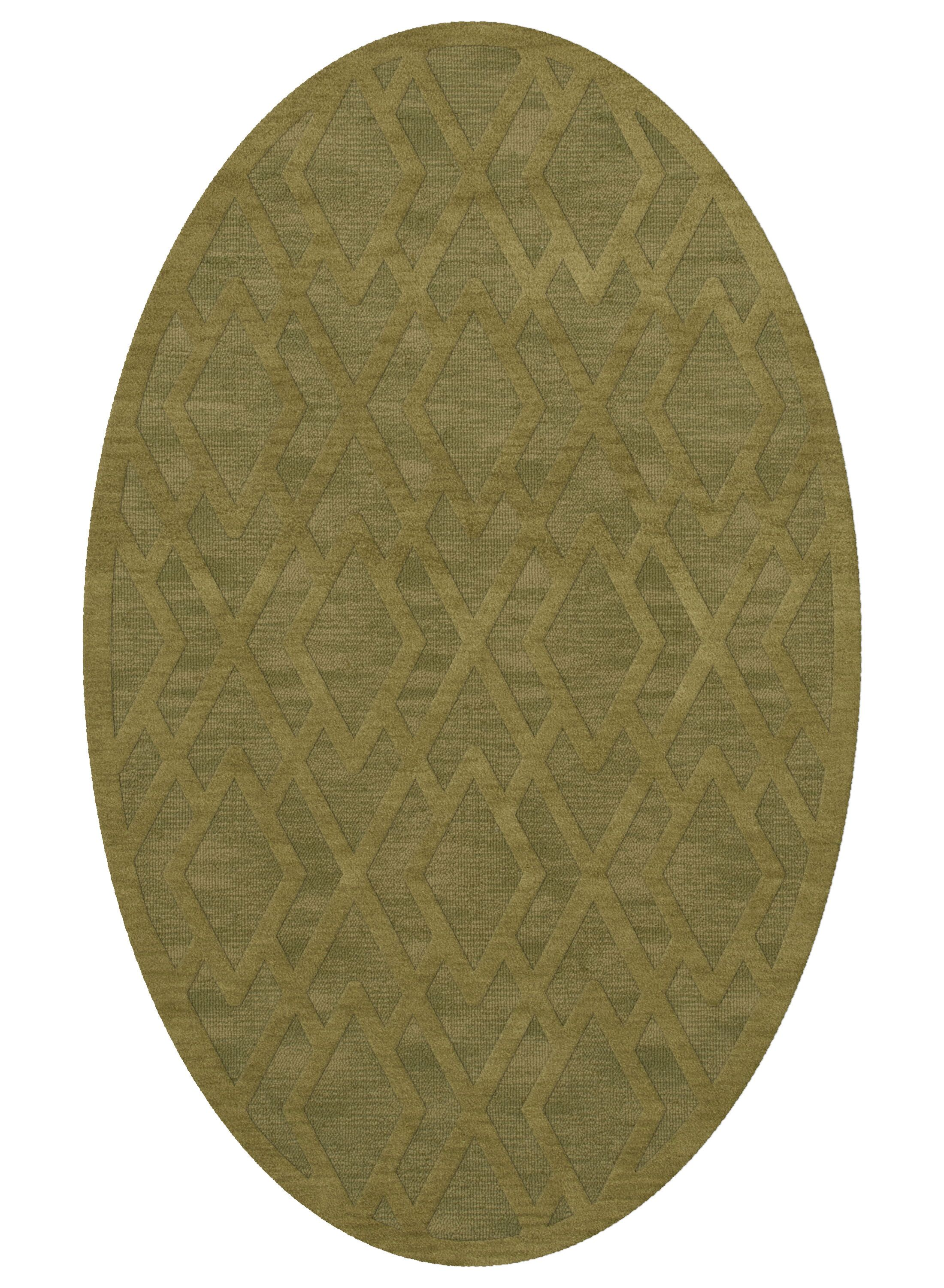Dover Tufted Wool Pear Area Rug Rug Size: Oval 10' x 14'