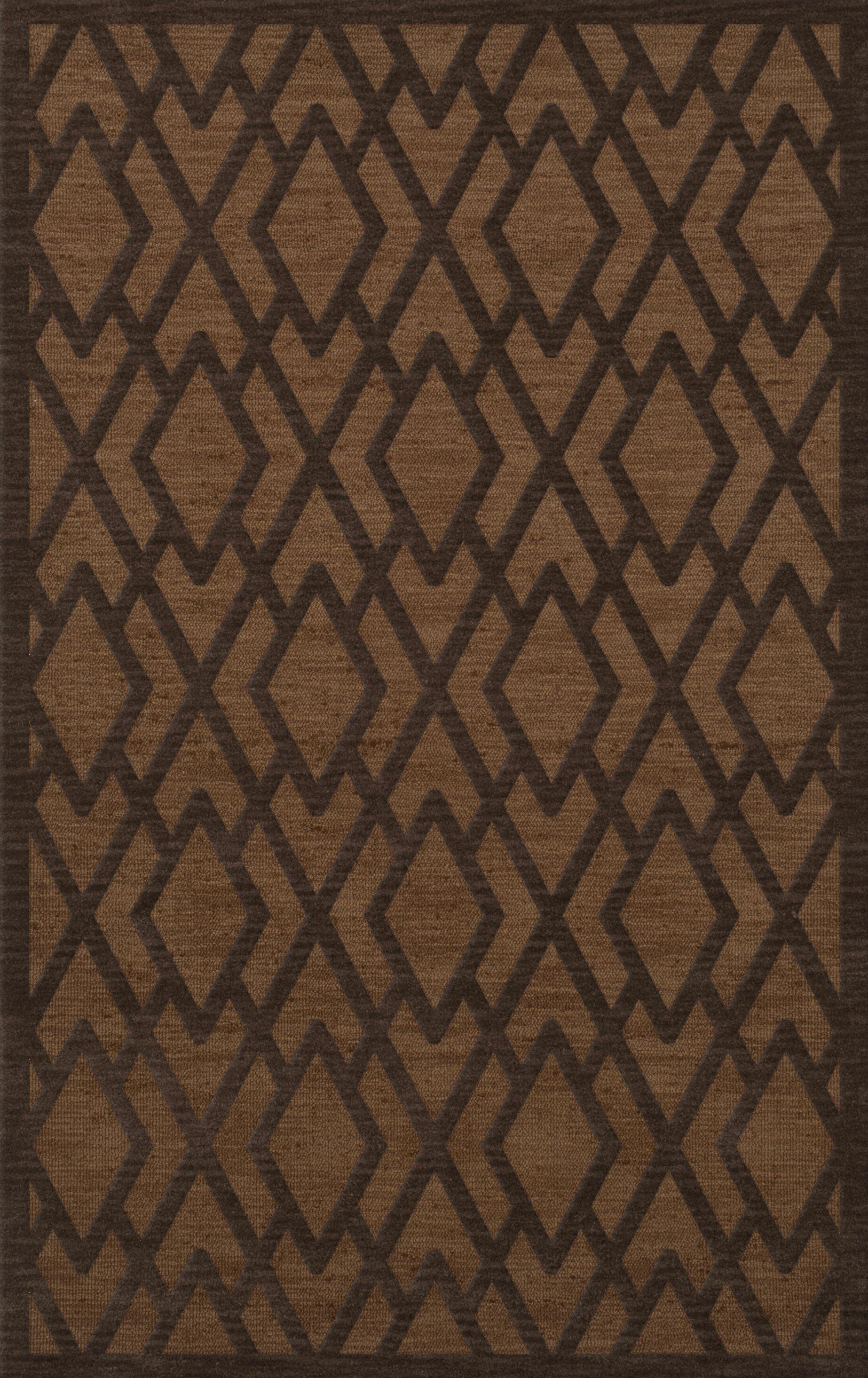 Dover Tufted Wool Caramel Area Rug Rug Size: Rectangle 8' x 10'