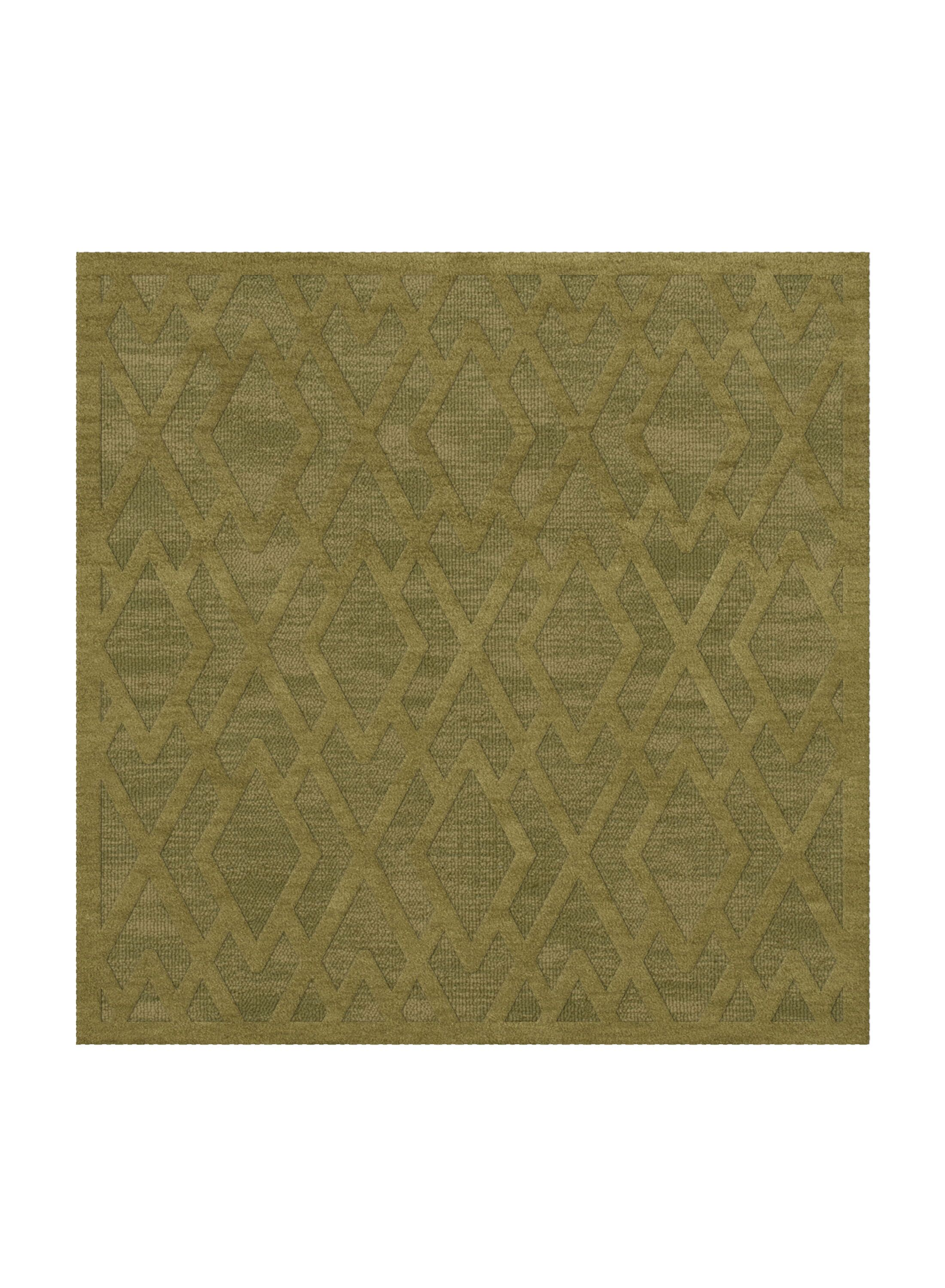 Dover Tufted Wool Pear Area Rug Rug Size: Square 6'