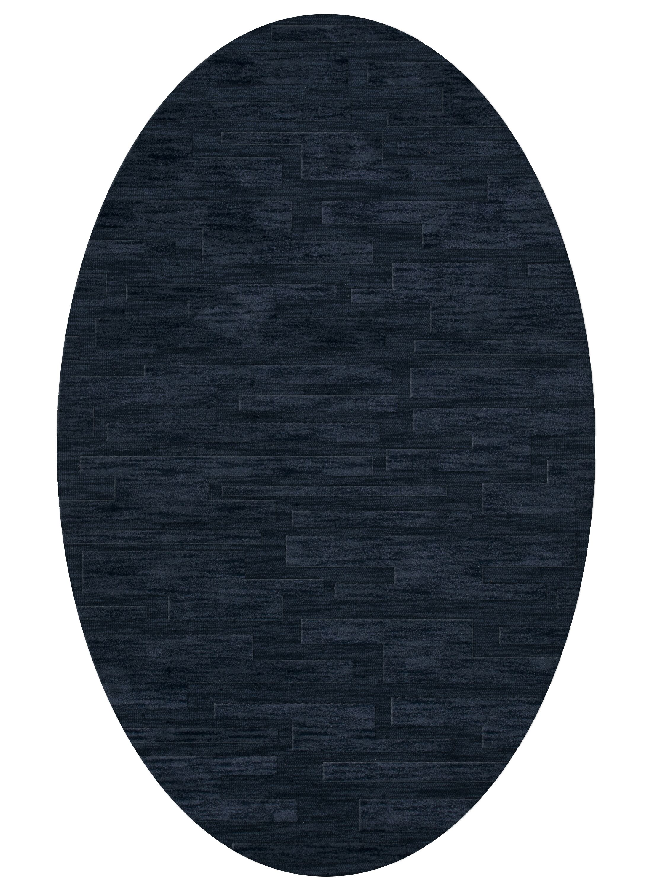 Dover Navy Area Rug Rug Size: Oval 5' x 8'