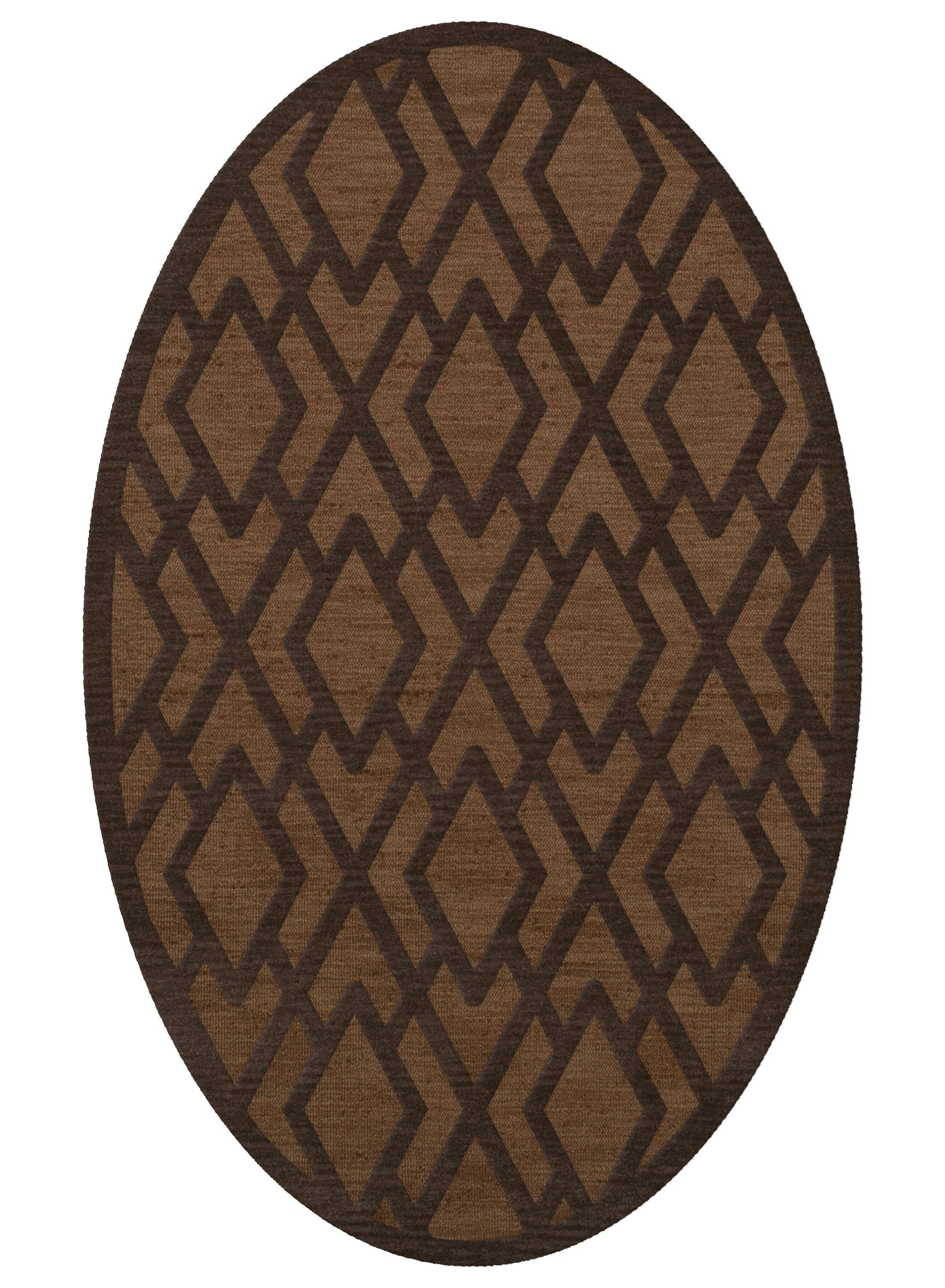 Dover Tufted Wool Caramel Area Rug Rug Size: Oval 6' x 9'