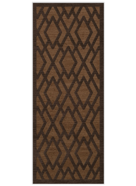 Dover Tufted Wool Caramel Area Rug Rug Size: Runner 2'6
