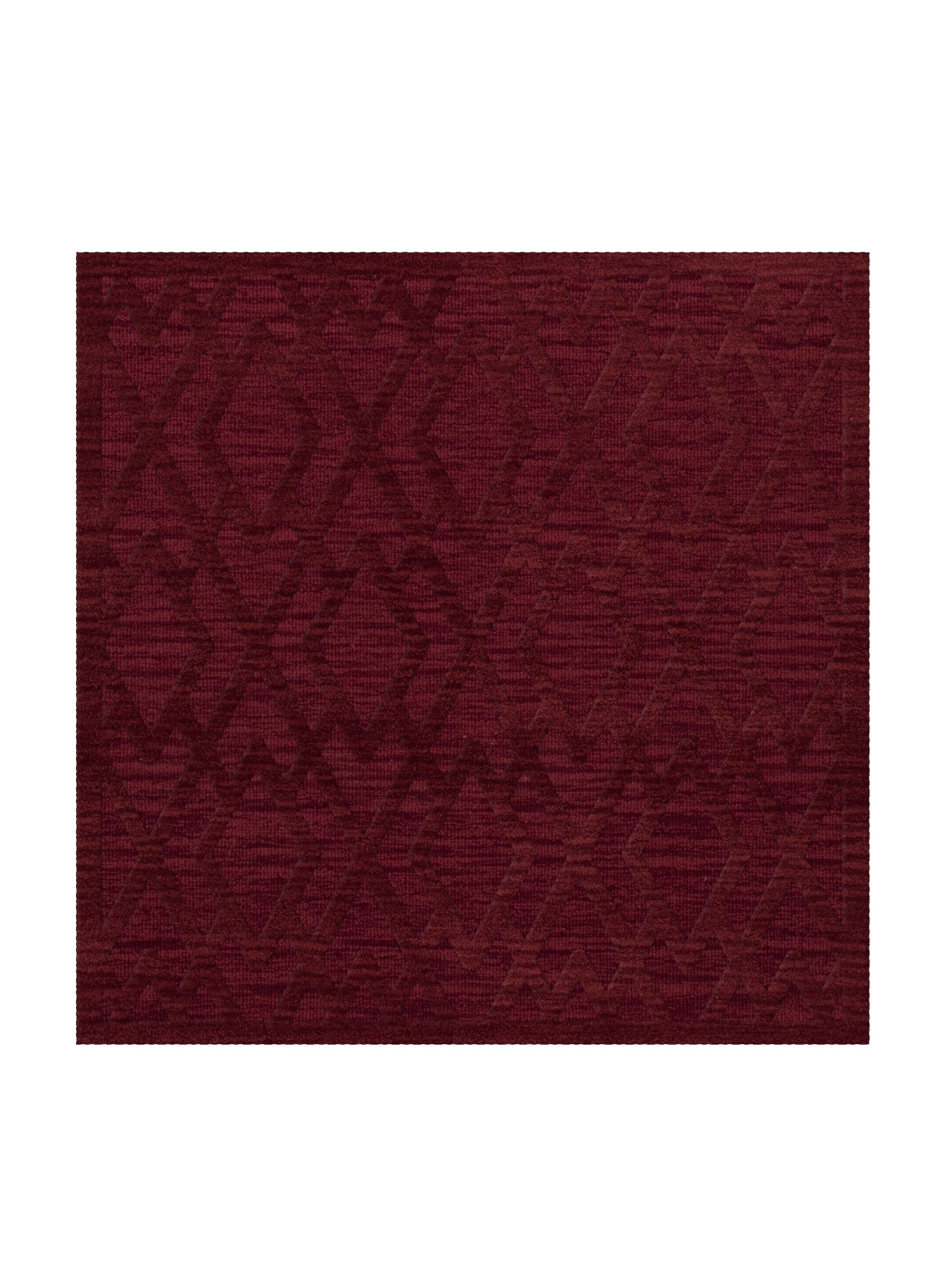 Dover Tufted Wool Rich Red Area Rug Rug Size: Square 12'