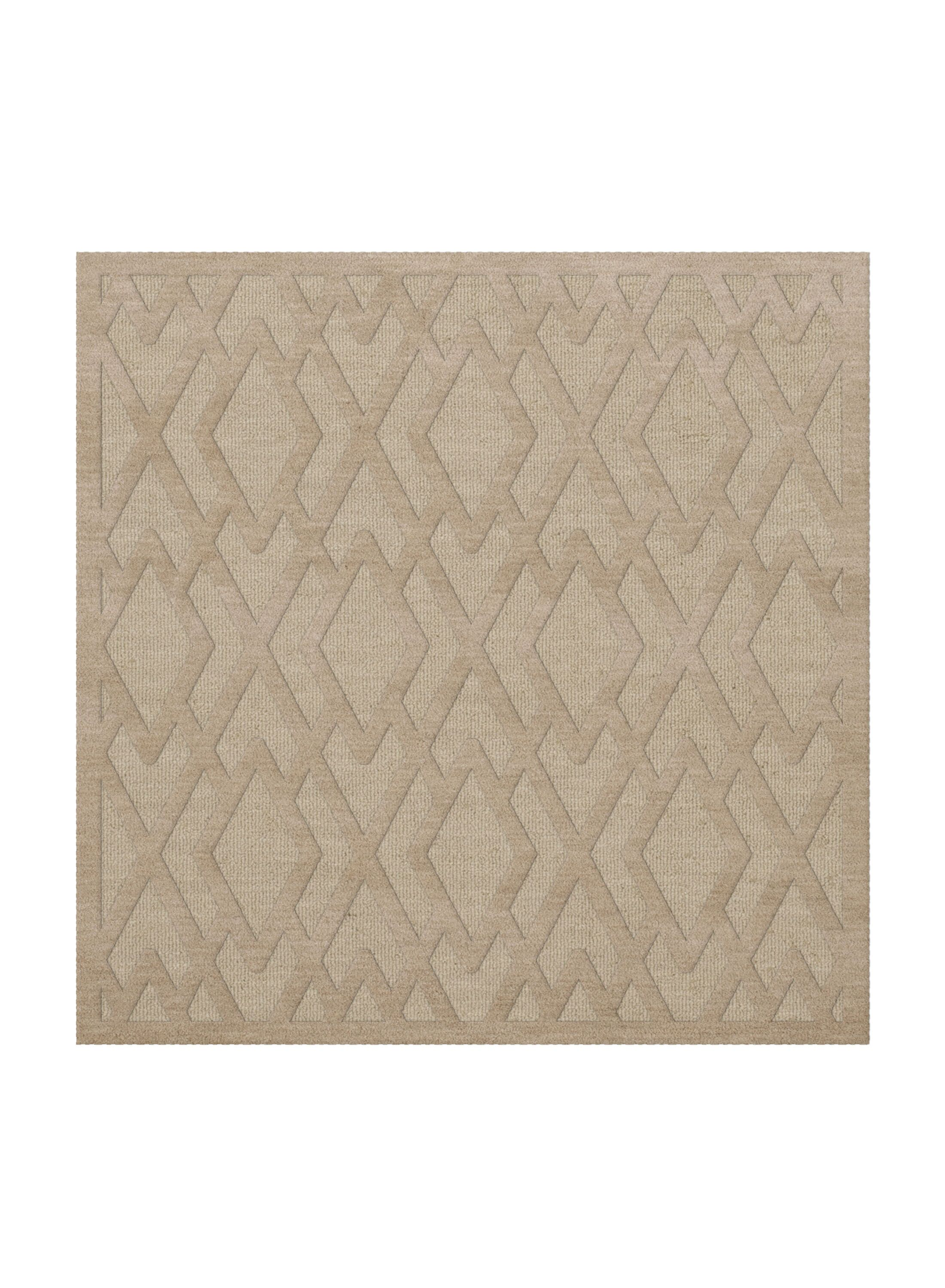 Dover Tufted Wool Linen Area Rug Rug Size: Square 4'