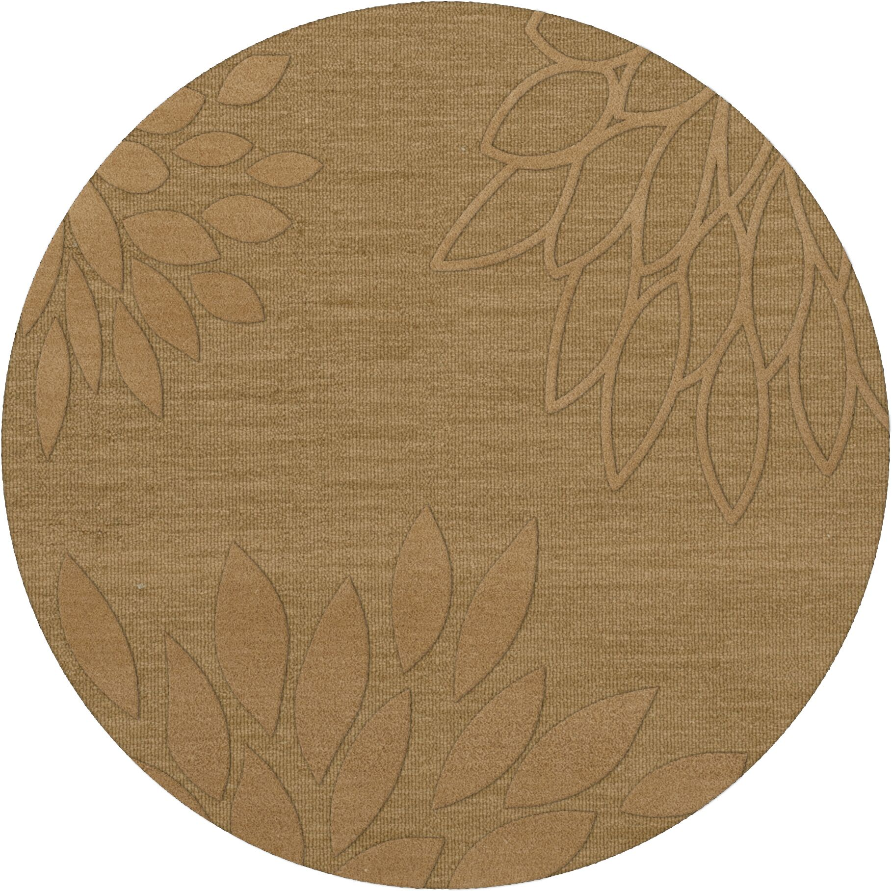 Bao Wheat Area Rug Rug Size: Round 12'