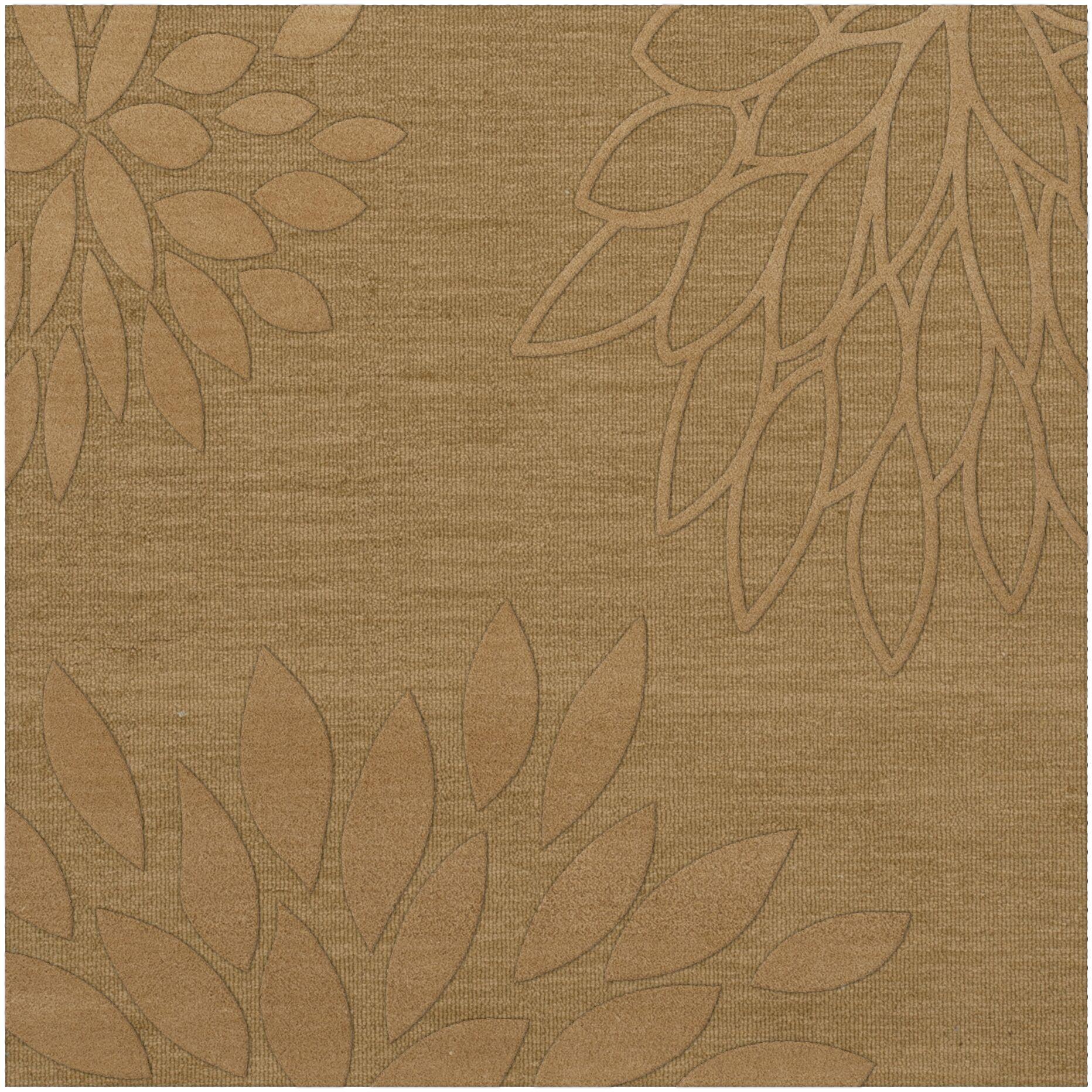 Bao Wheat Area Rug Rug Size: Square 4'