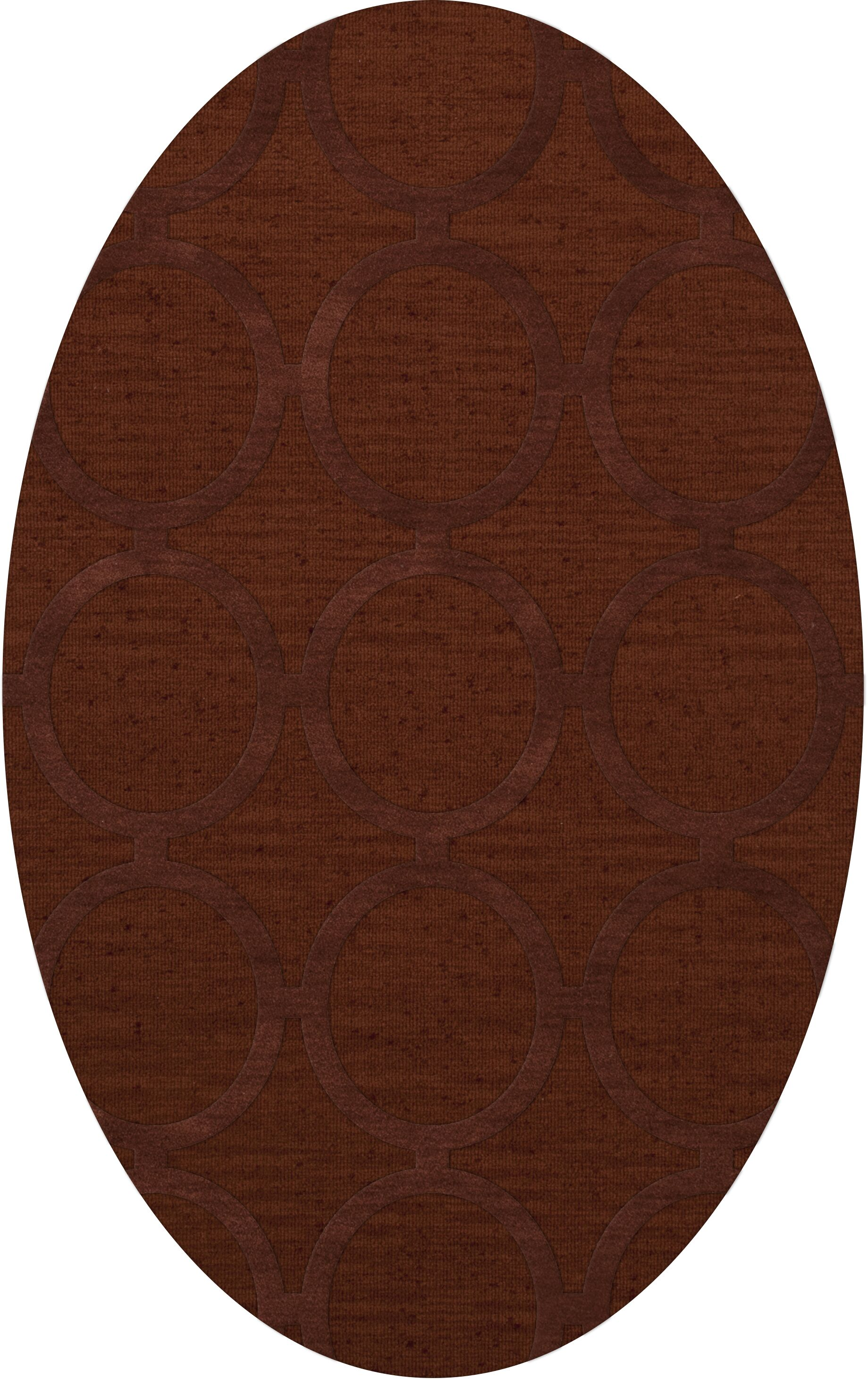 Dover Tufted Wool Paprika Area Rug Rug Size: Oval 5' x 8'