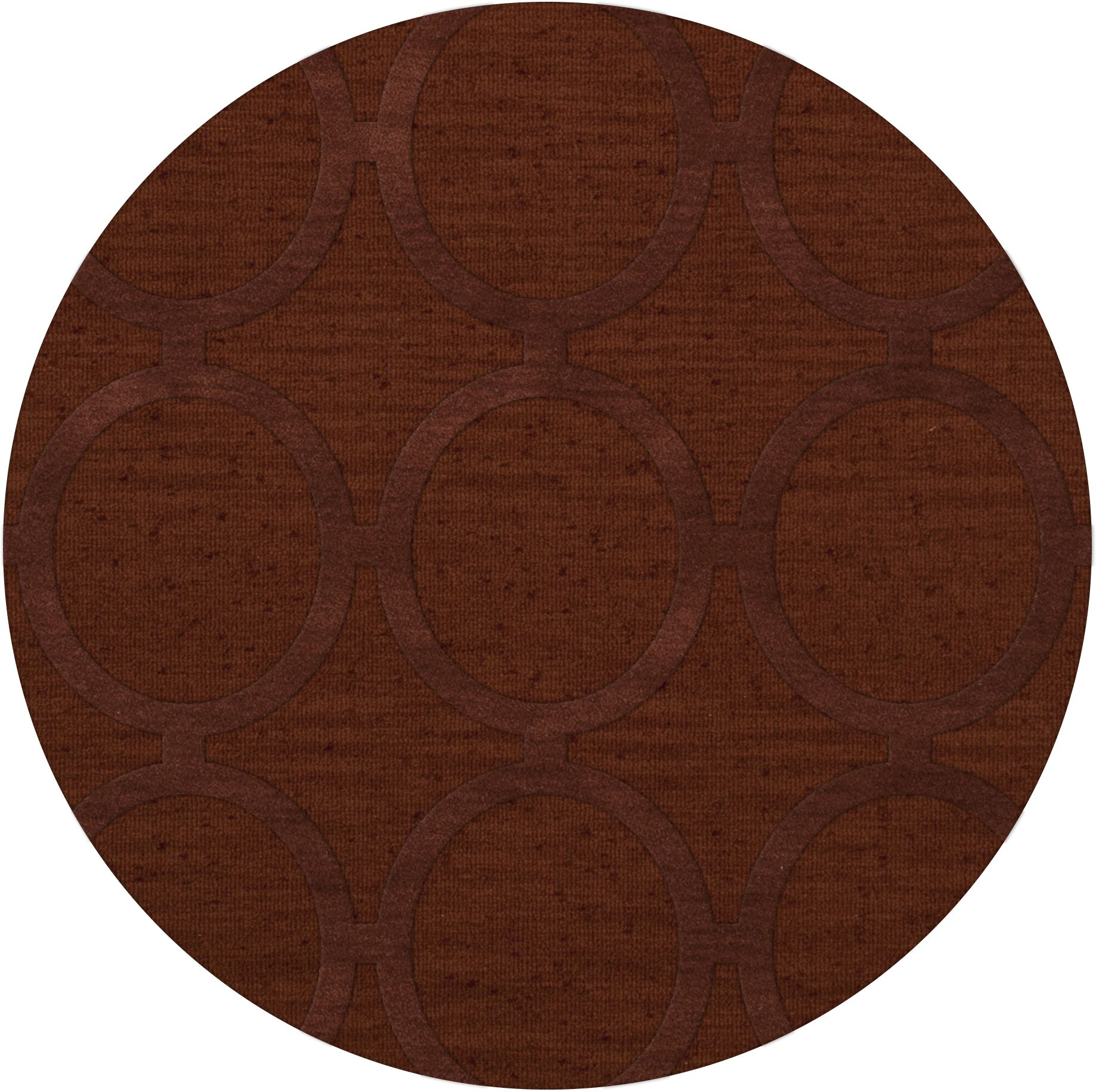 Dover Tufted Wool Paprika Area Rug Rug Size: Round 8'