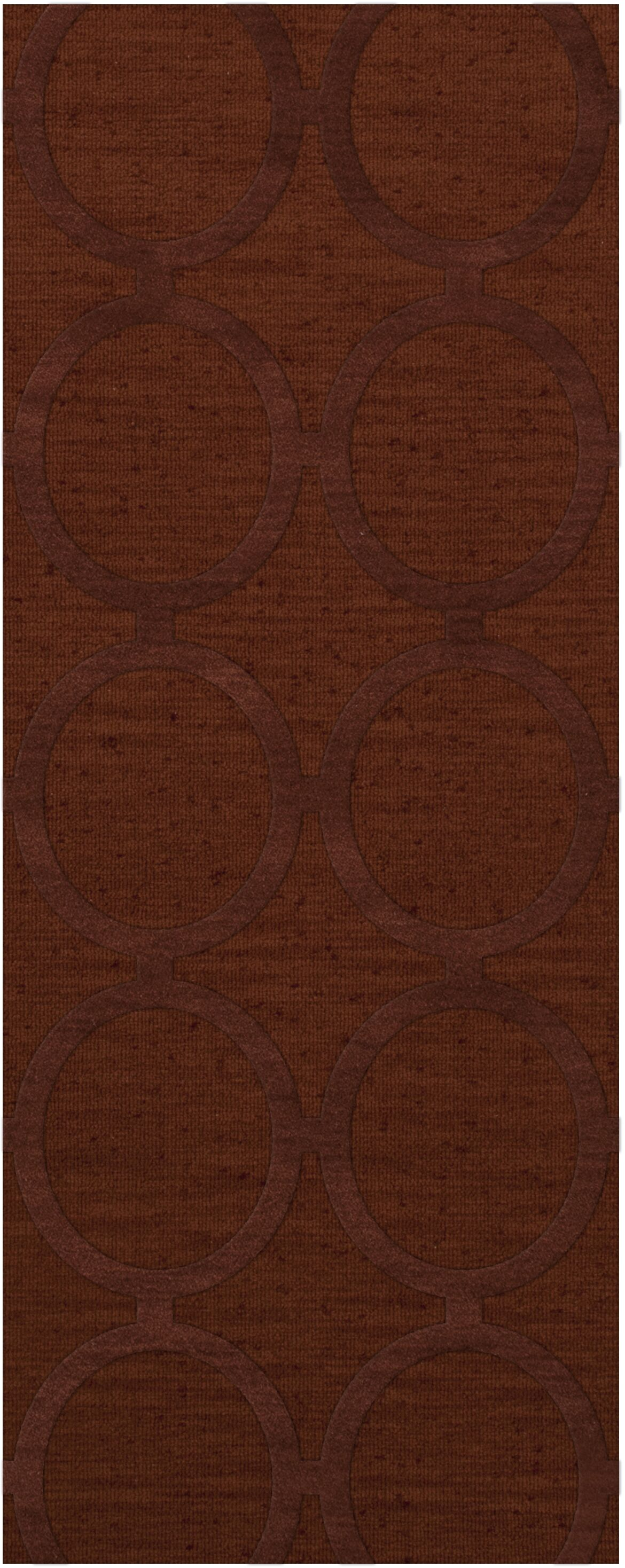 Dover Tufted Wool Paprika Area Rug Rug Size: Runner 2'6