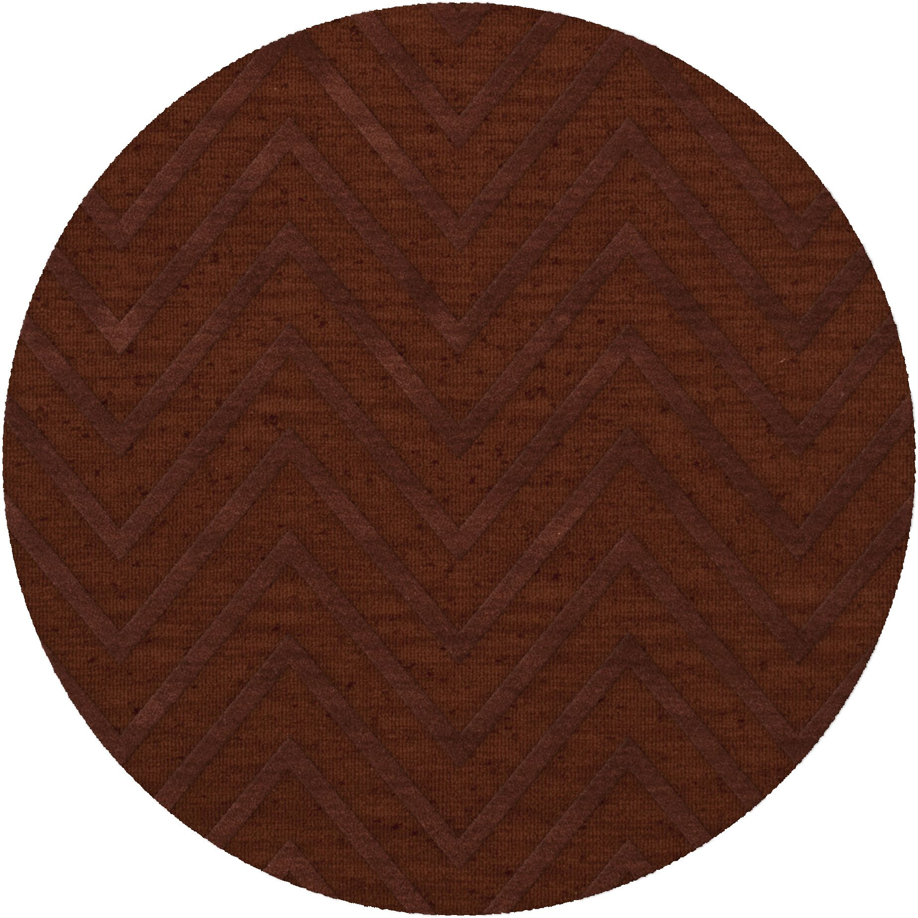 Dover Tufted Wool Paprika Area Rug Rug Size: Round 12'