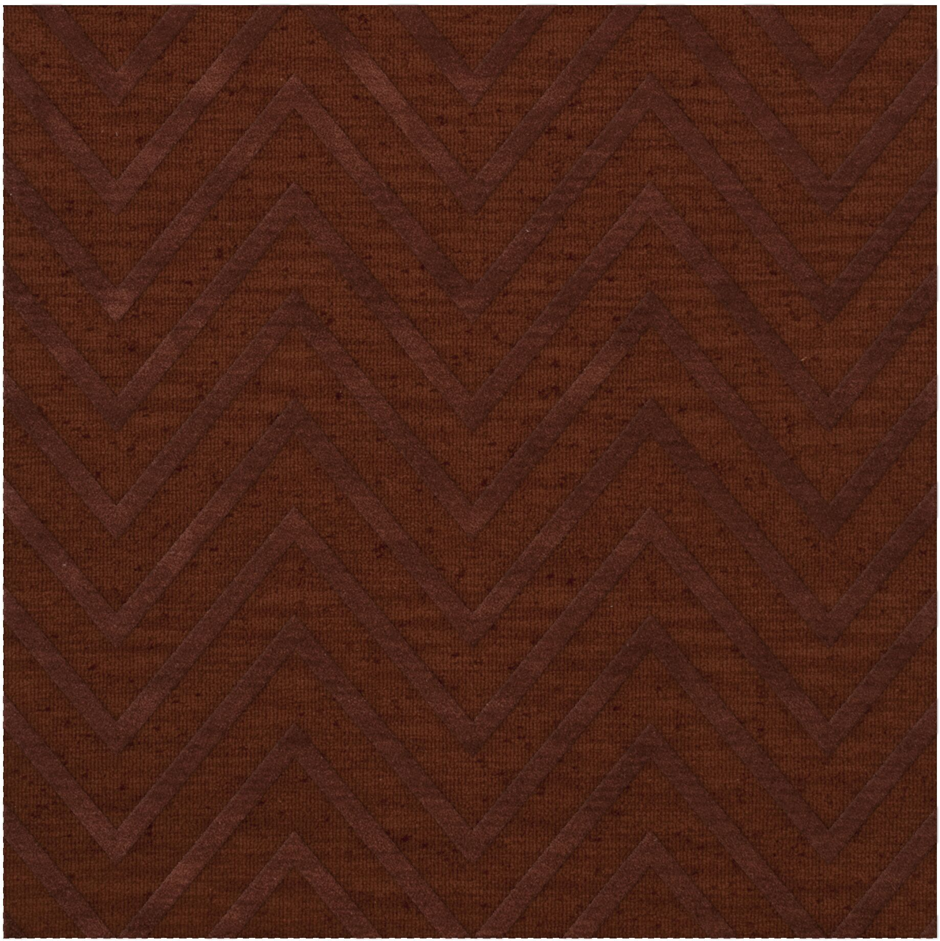 Dover Tufted Wool Paprika Area Rug Rug Size: Square 6'