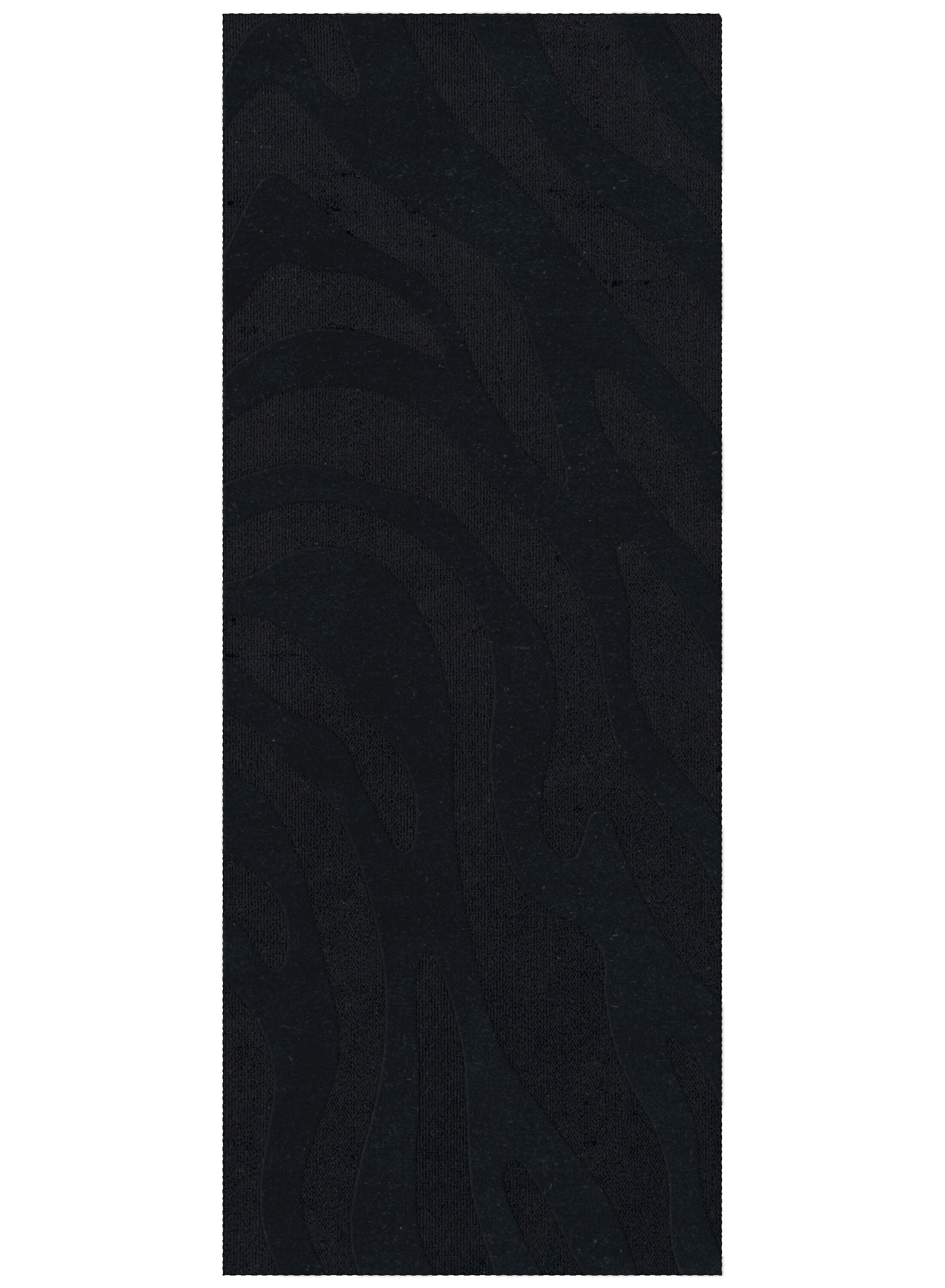 Dover Tufted Wool Black Area Rug Rug Size: Runner 2'6