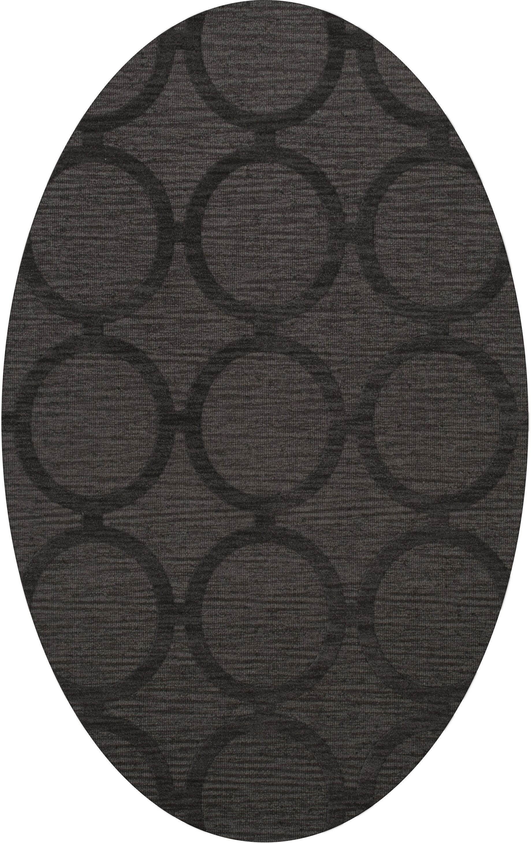 Dover Tufted Wool Ash Area Rug Rug Size: Oval 5' x 8'