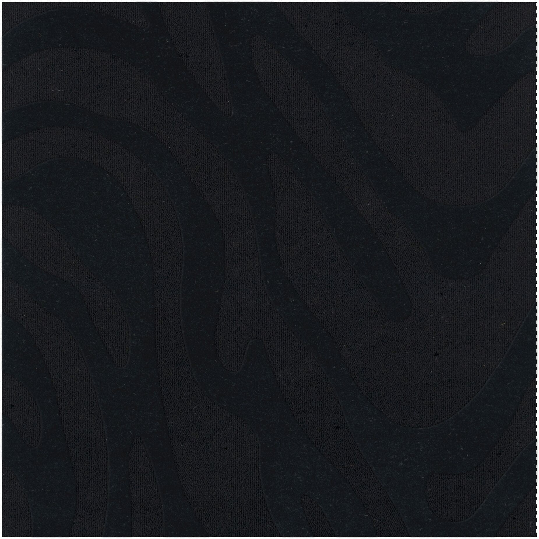 Dover Tufted Wool Black Area Rug Rug Size: Square 6'