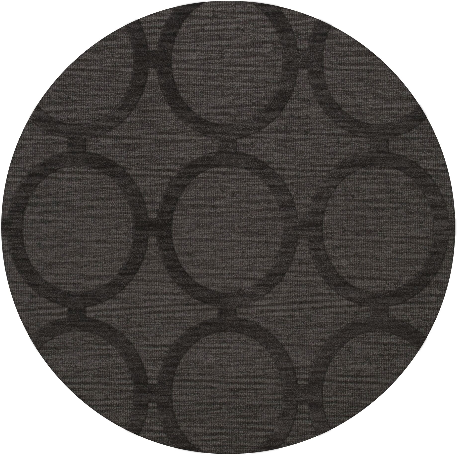 Dover Tufted Wool Ash Area Rug Rug Size: Round 6'