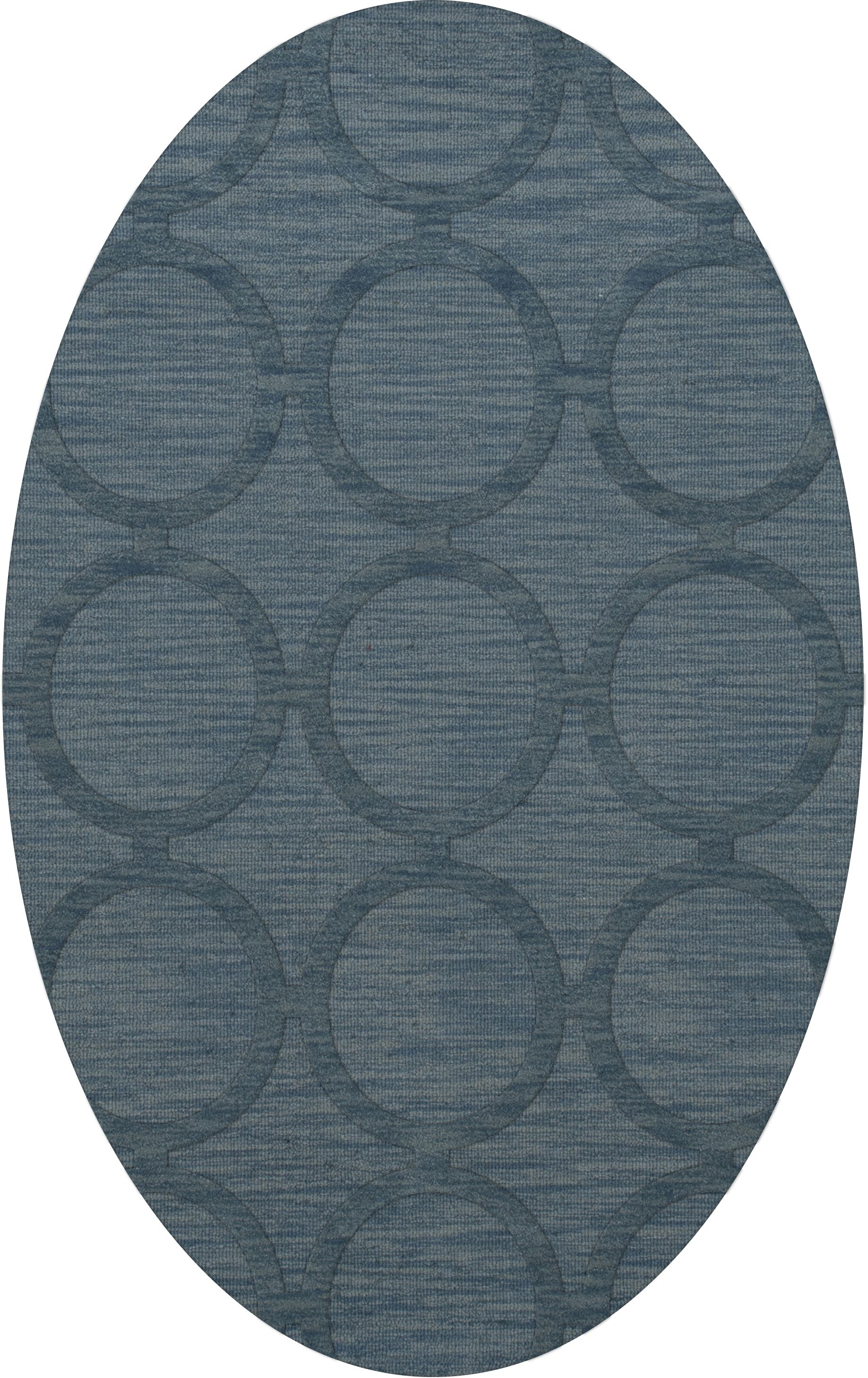 Dover Tufted Wool Sky Area Rug Rug Size: Oval 6' x 9'