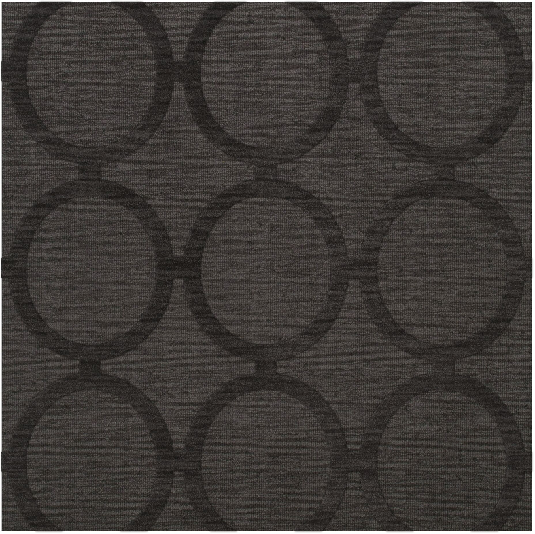 Dover Tufted Wool Ash Area Rug Rug Size: Square 6'
