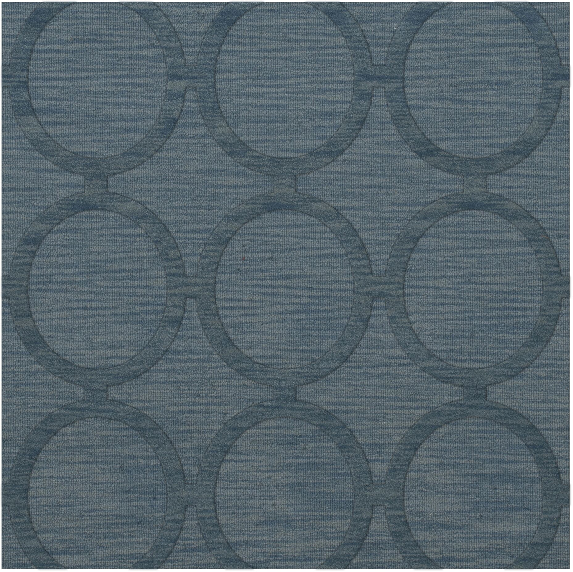 Dover Tufted Wool Sky Area Rug Rug Size: Square 12'