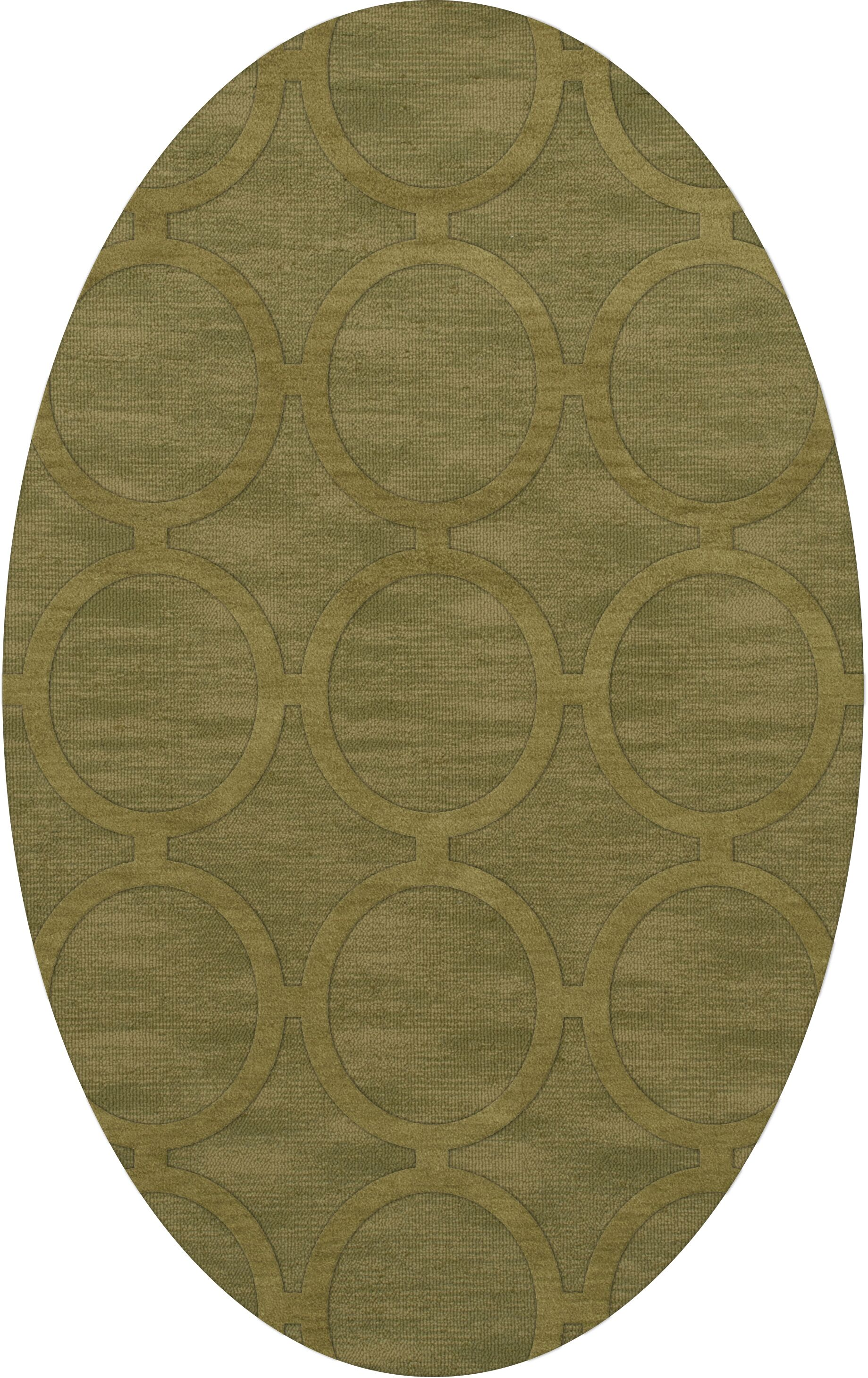 Dover Tufted Wool Pear Area Rug Rug Size: Oval 8' x 10'