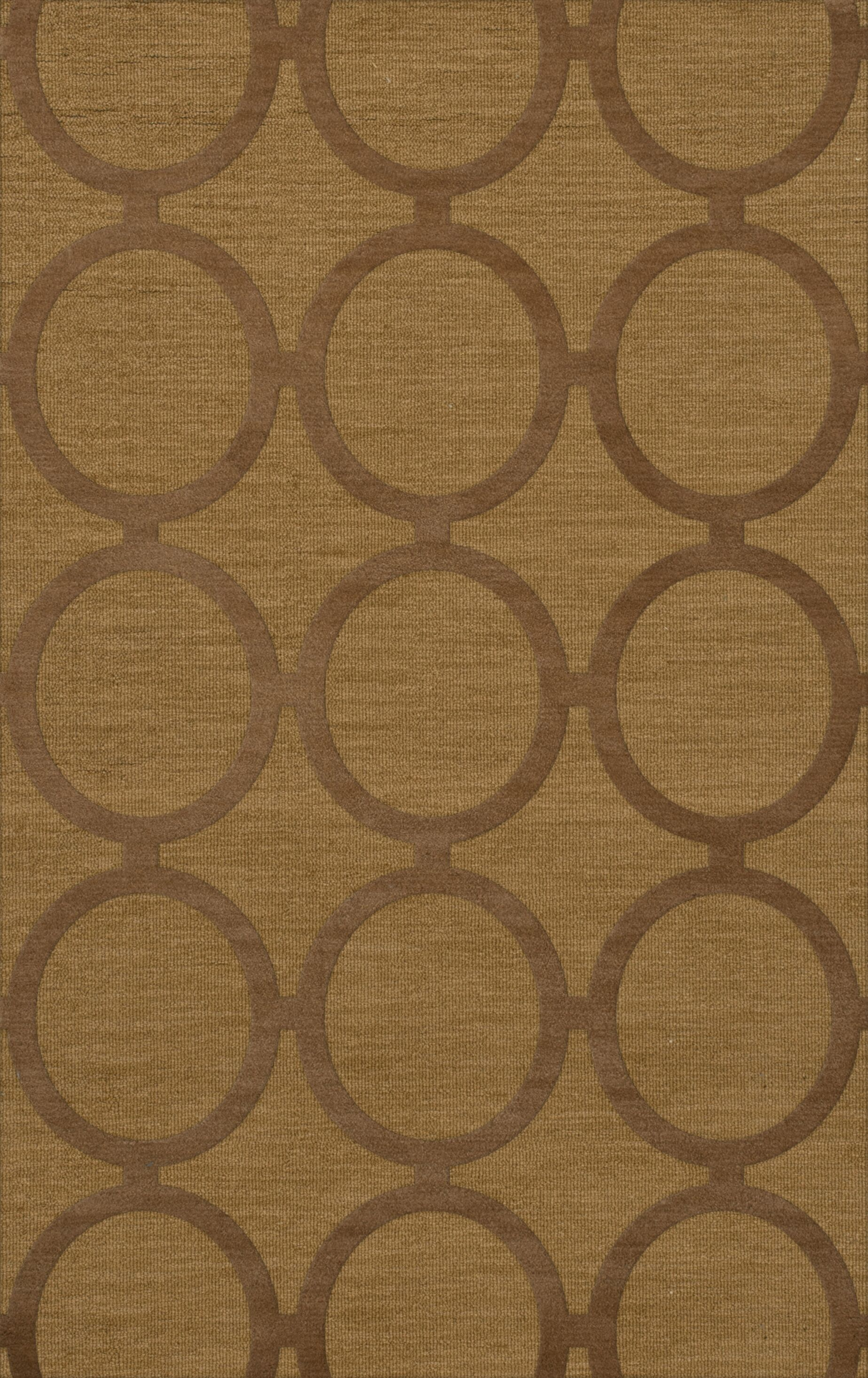 Dover Tufted Wool Gold Dust Area Rug Rug Size: Rectangle 5' x 8'